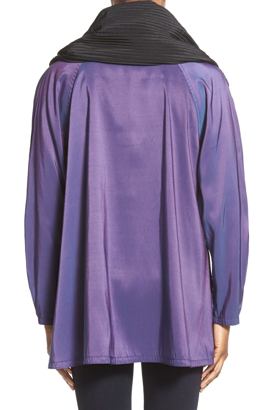 'Mini Donatella' Reversible Pleat Hood Packable Travel Coat,                             Alternate thumbnail 70, color,