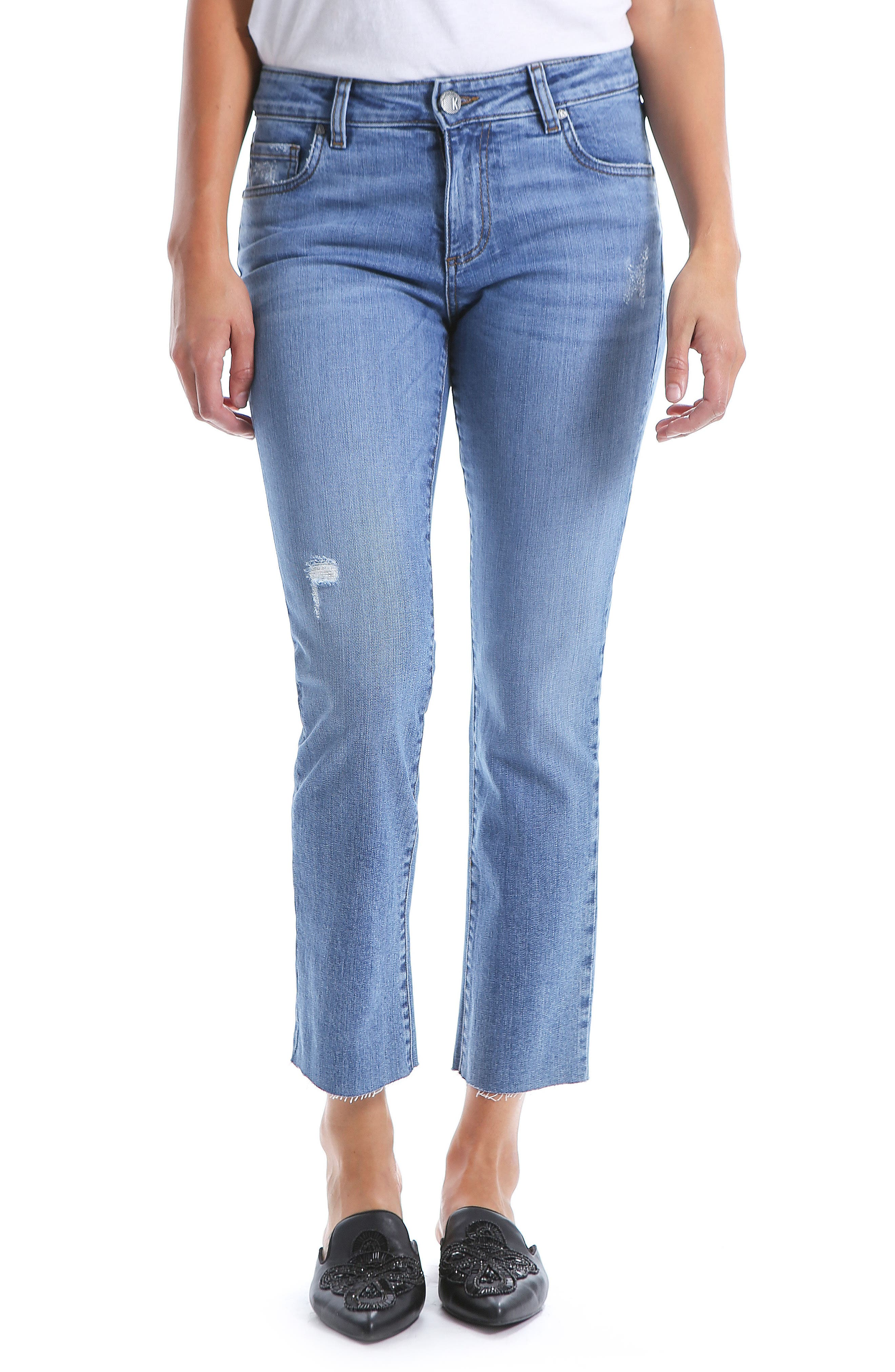 Reese Straight Leg Ankle Jeans,                             Main thumbnail 1, color,                             EQUILIBRIUM