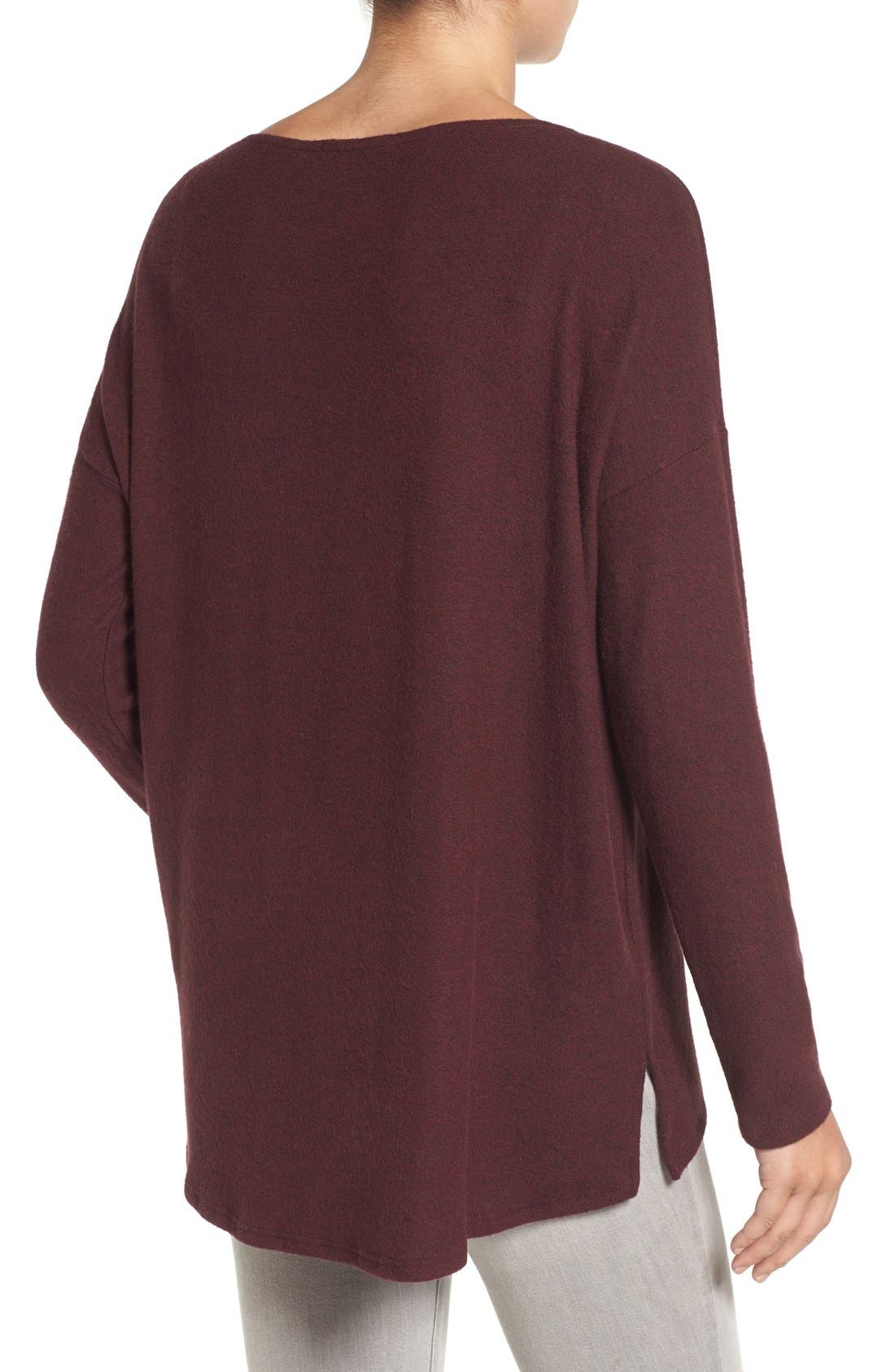 Cozy Ballet Neck High/Low Pullover,                             Alternate thumbnail 33, color,