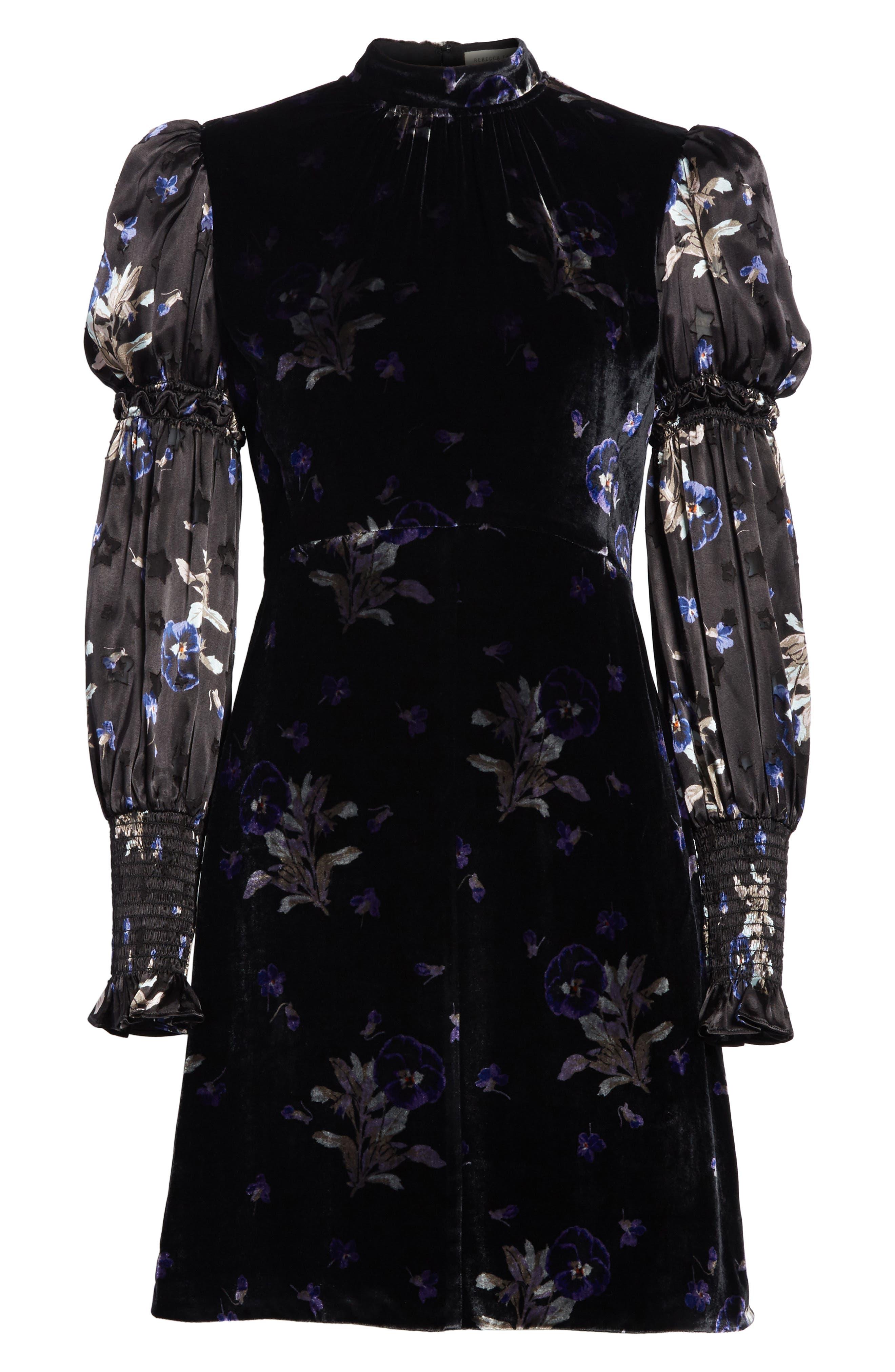 Violet Velvet Sheath Dress,                             Alternate thumbnail 6, color,                             014