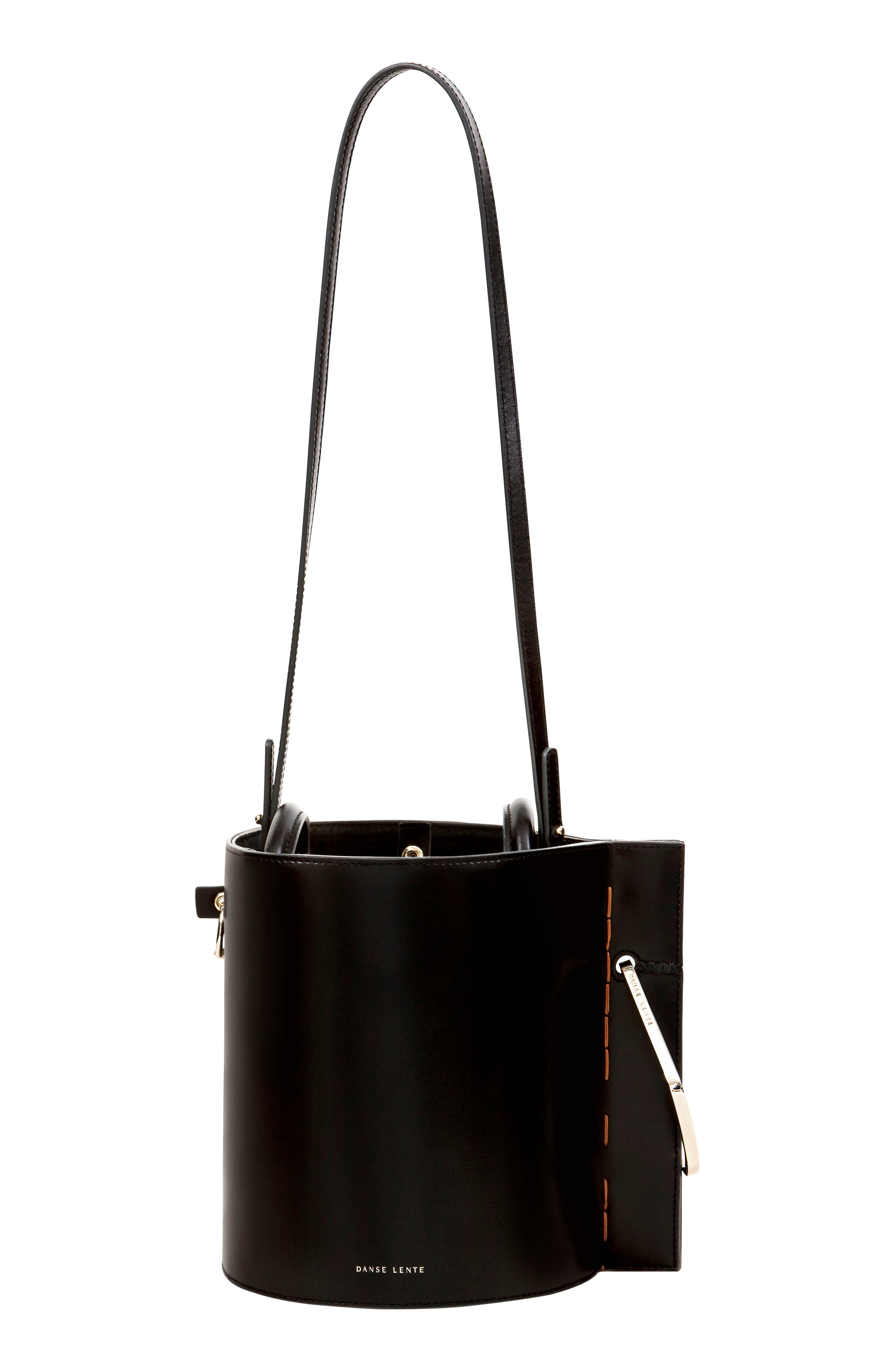 Bobbi Leather Tote,                             Alternate thumbnail 2, color,                             BLACK
