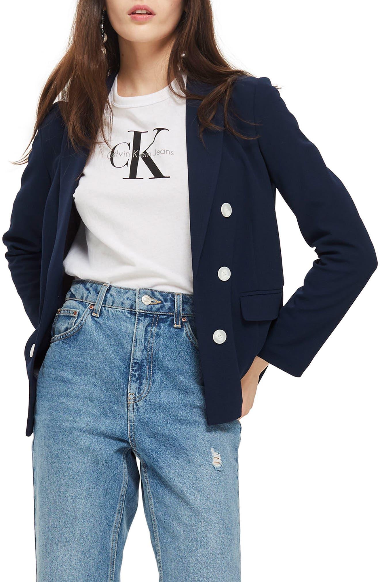 Bonded Bubble Crepe Jacket,                         Main,                         color,