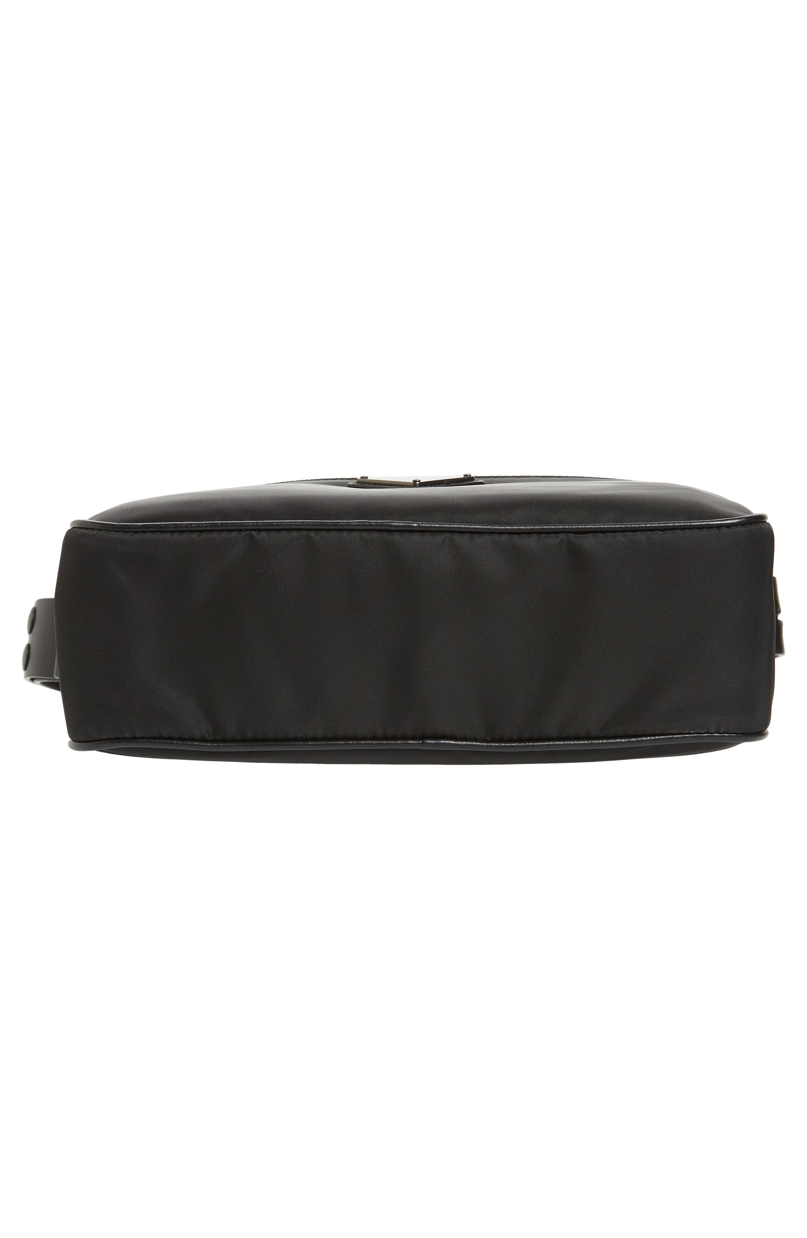 Small Nylon Camera Bag,                             Alternate thumbnail 6, color,                             F0632 NERO 1