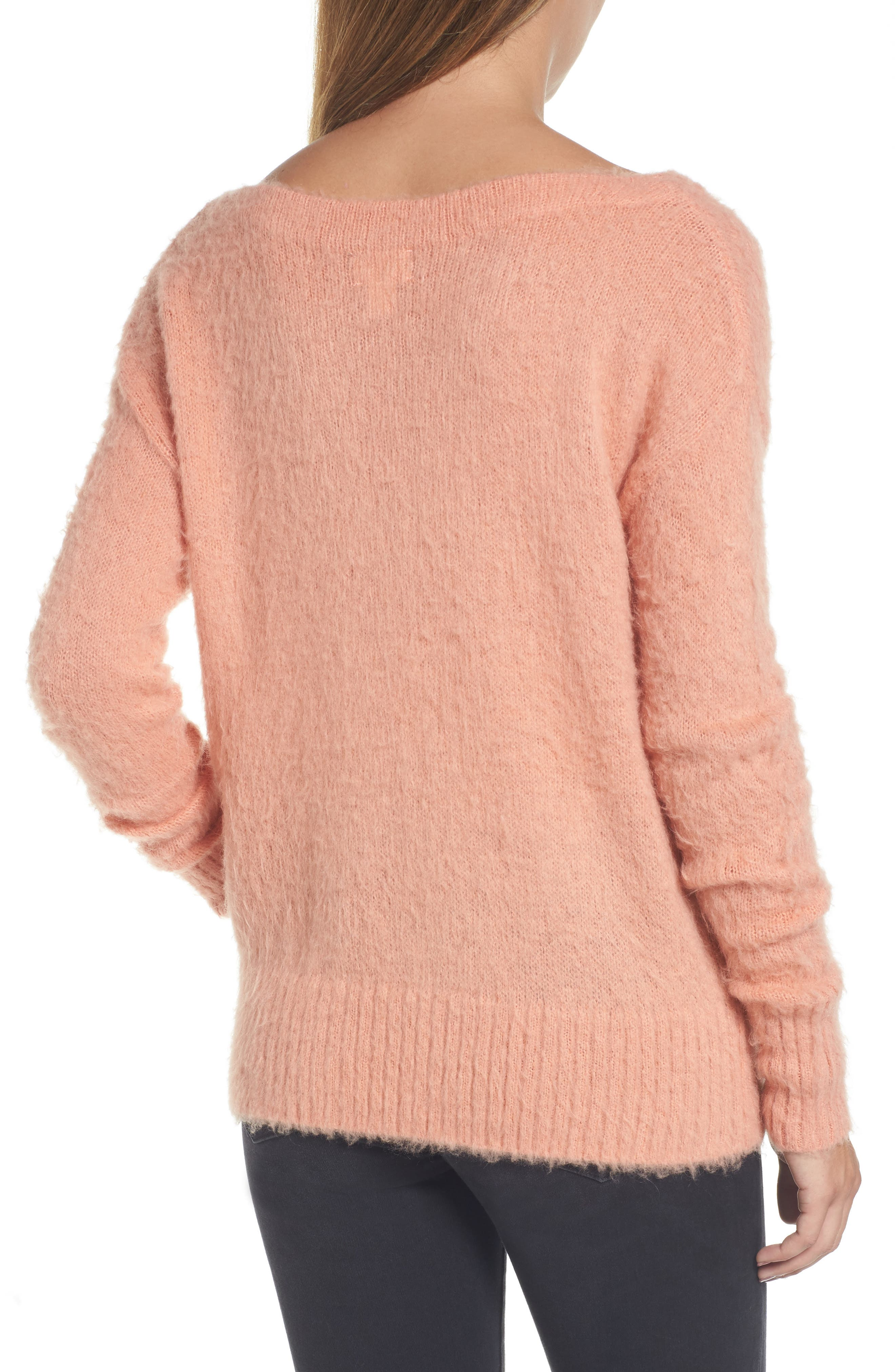 Long Sleeve Brushed Sweater,                             Alternate thumbnail 12, color,