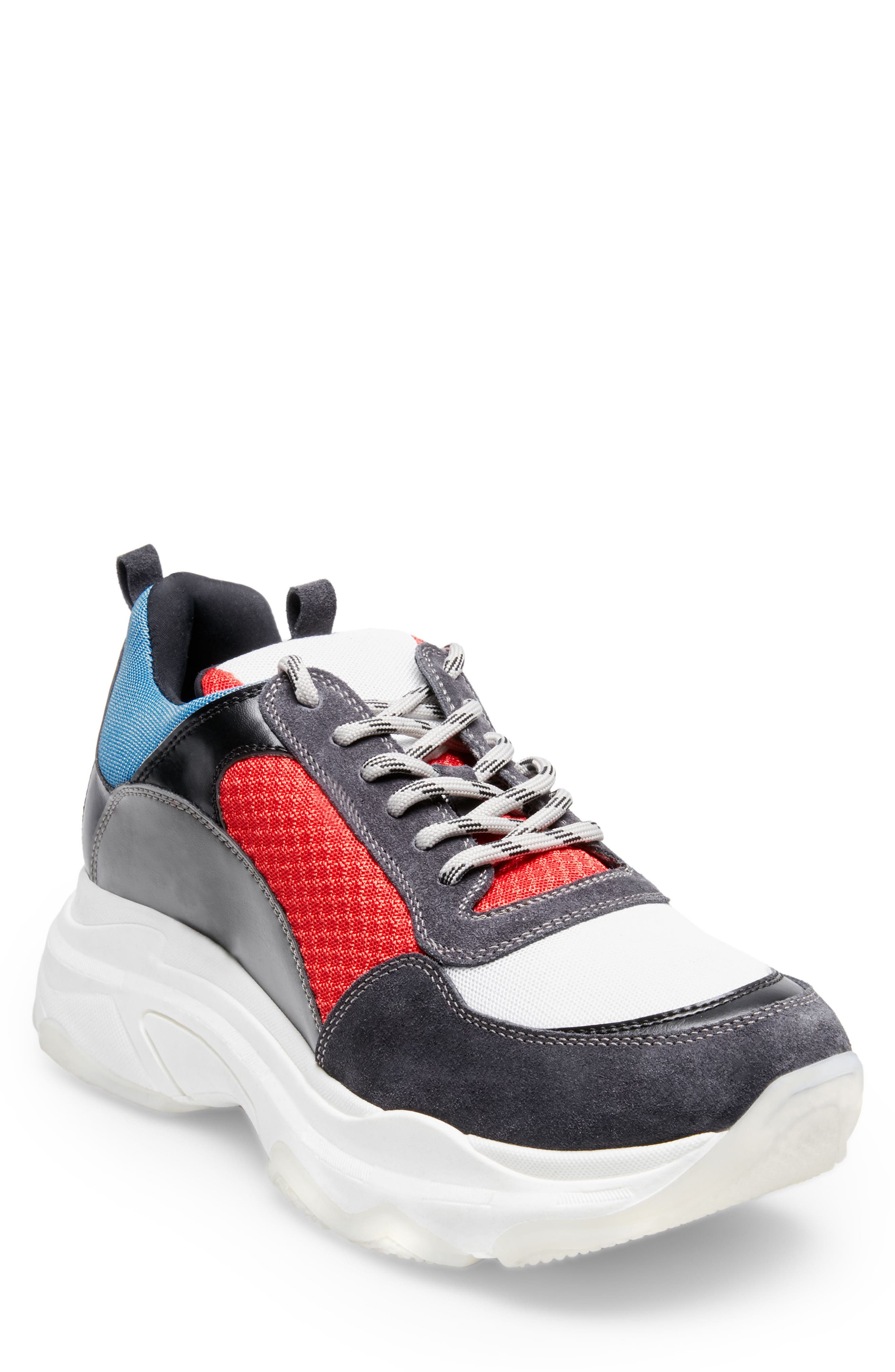 Russell Platform Sneaker,                         Main,                         color, MULTI LEATHER