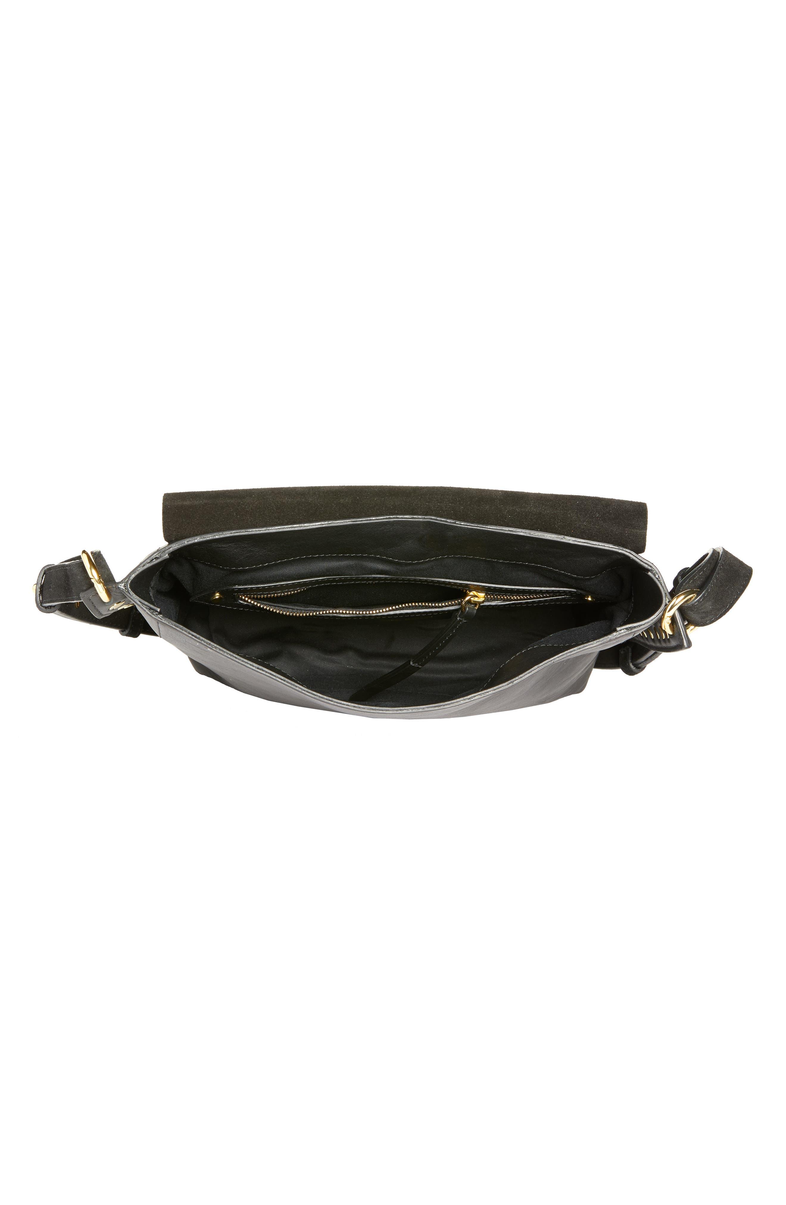 Asli Zoe Studded Shoulder Bag,                             Alternate thumbnail 4, color,