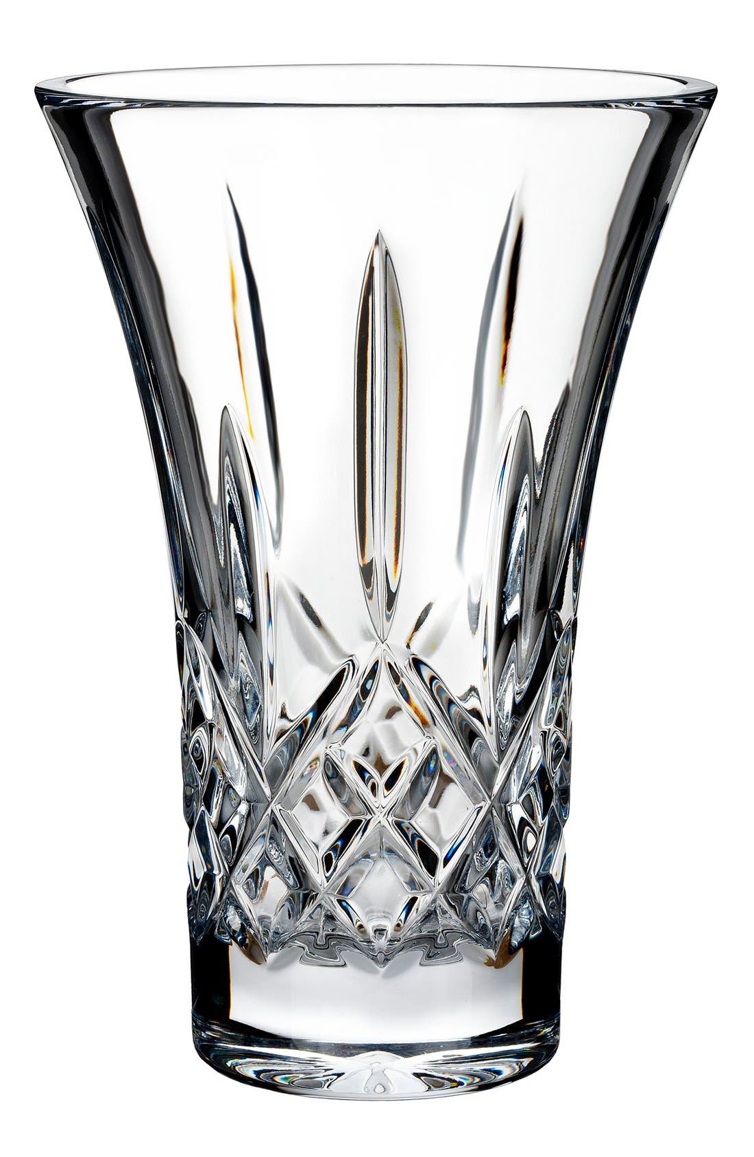 'Lismore' Lead Crystal Flared Vase,                             Main thumbnail 1, color,                             100