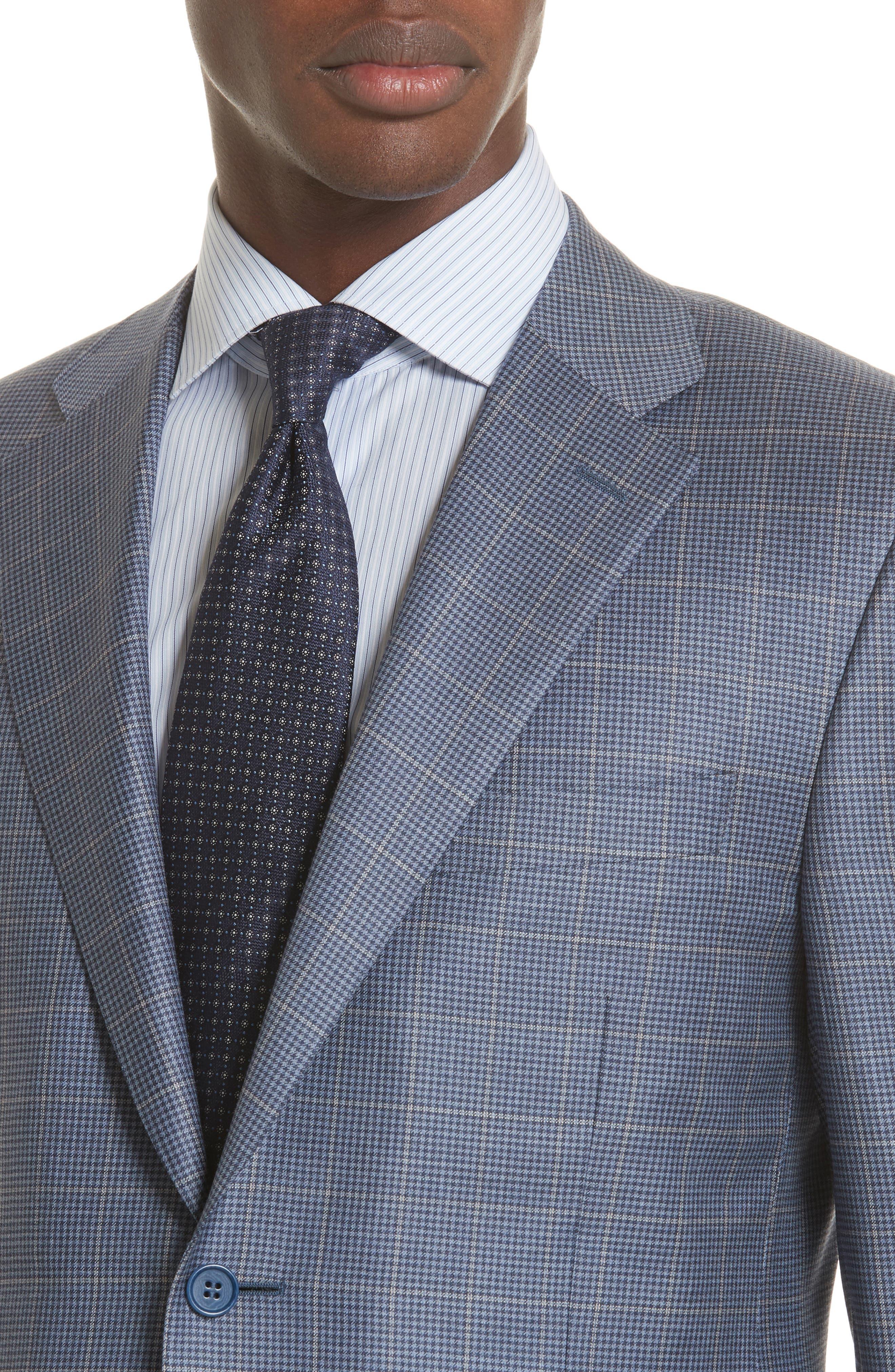 Classic Fit Windowpane Wool Sport Coat,                             Alternate thumbnail 4, color,                             400