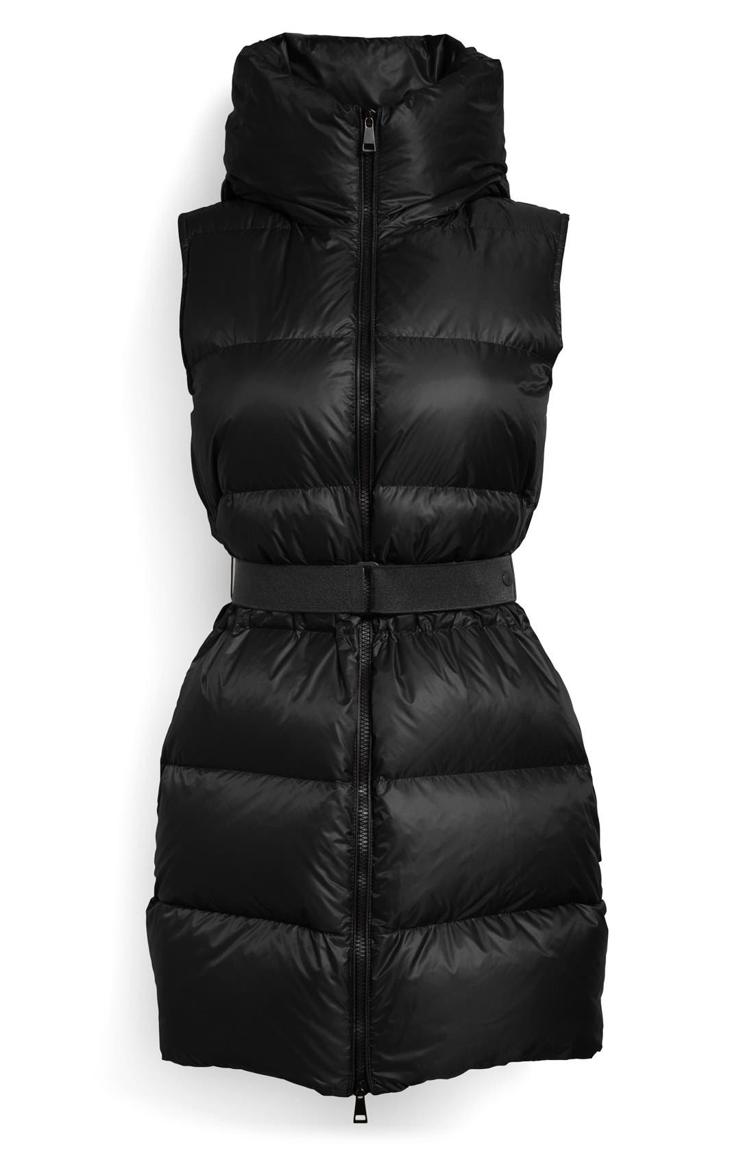 'Glykeria' Water Resistant Hooded Down Puffer Vest,                             Alternate thumbnail 4, color,                             001