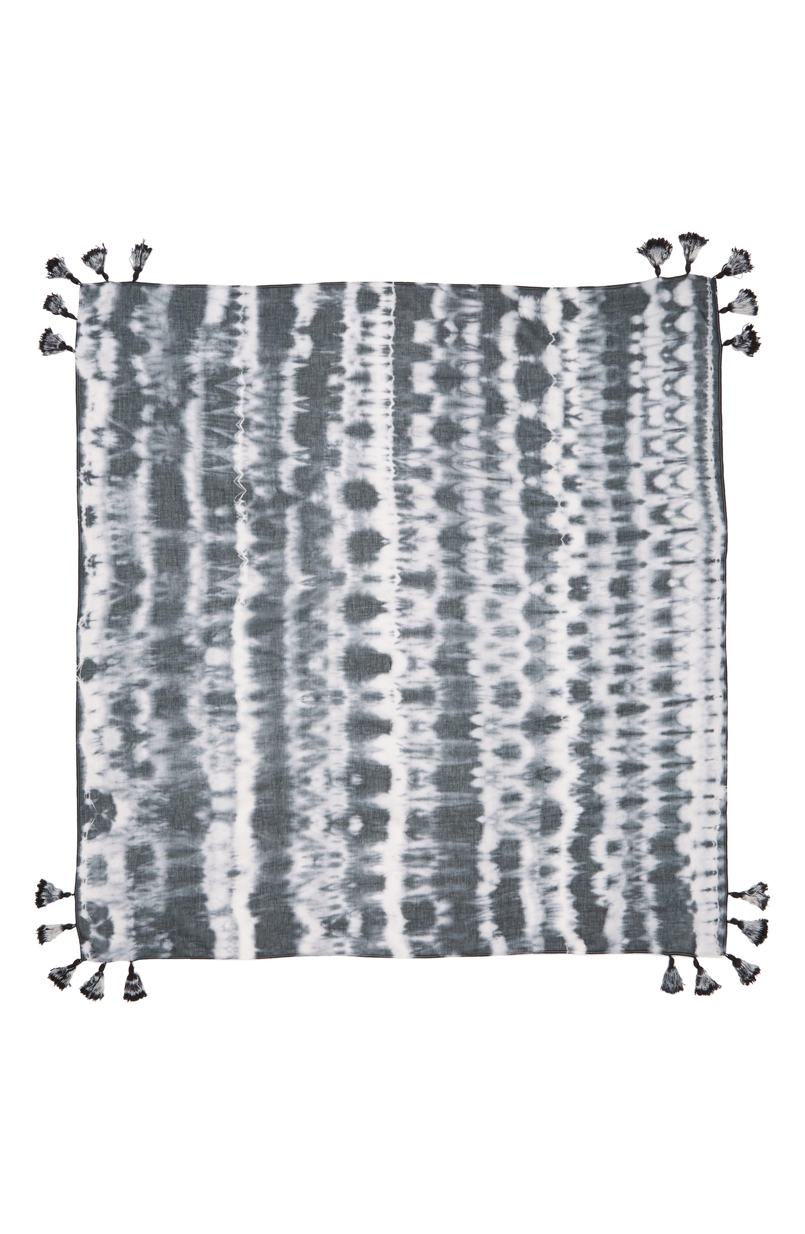 Tie Dye Square Scarf,                             Alternate thumbnail 3, color,                             400