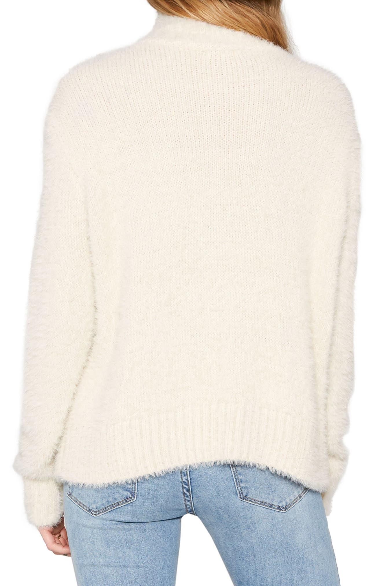 Cool Winds Cable Knit Sweater,                             Alternate thumbnail 4, color,