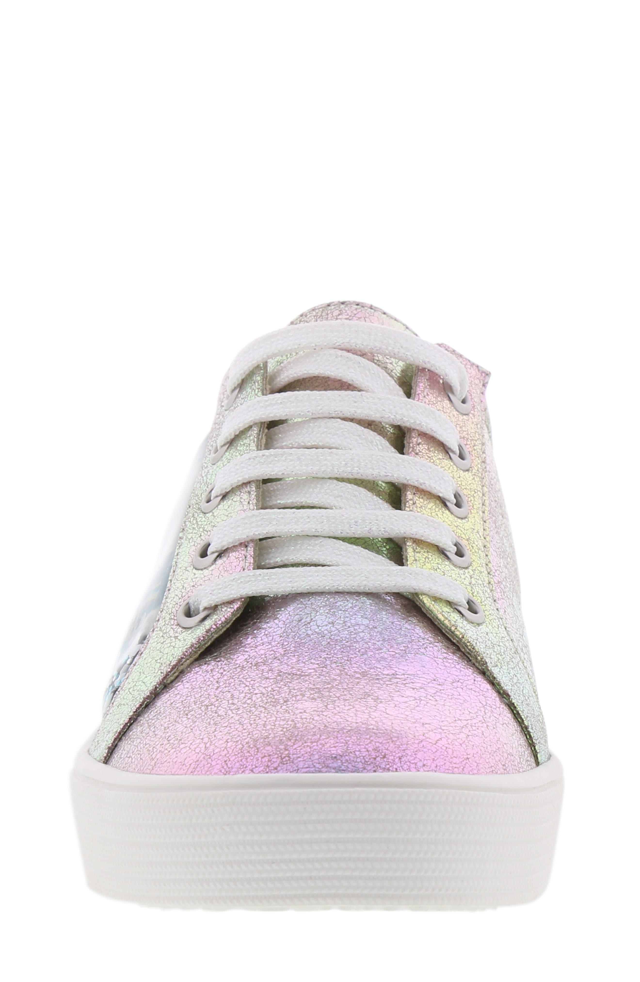 Bella Aqua Slip-On Sneaker,                             Alternate thumbnail 4, color,                             GASOLINE IRIDESCENT