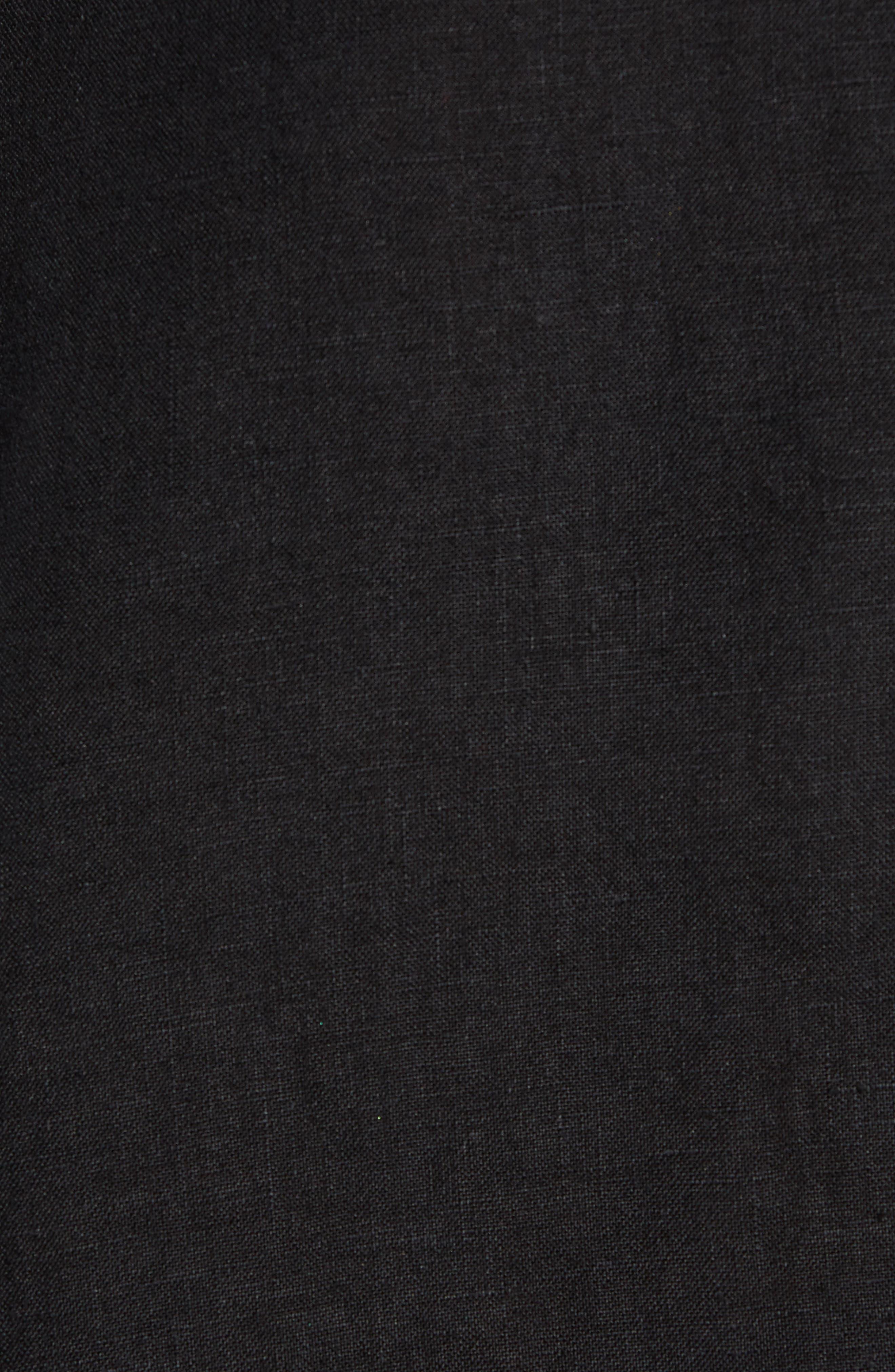 V-Back Linen Top,                             Alternate thumbnail 5, color,                             001
