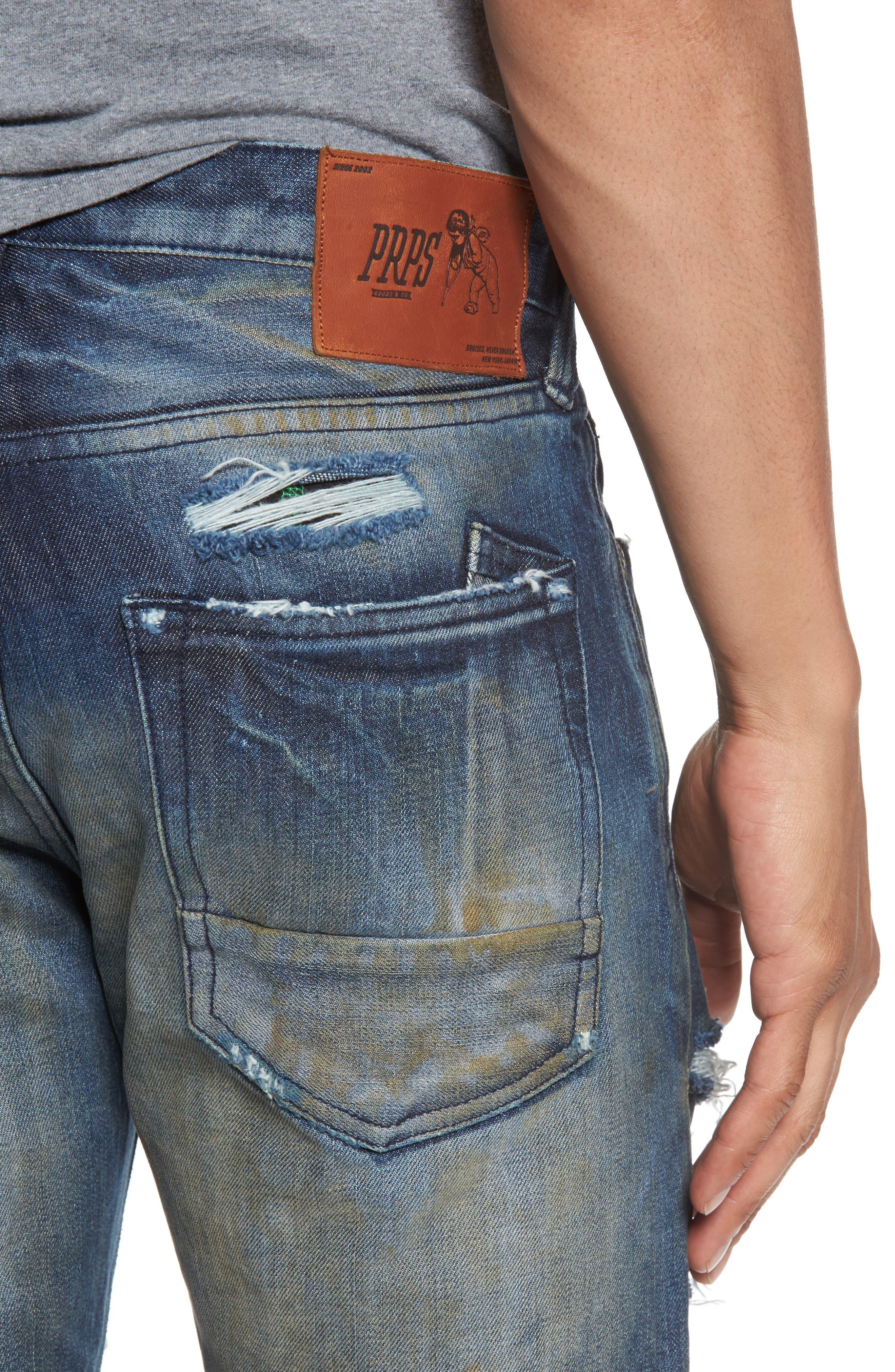 Demon Slim Straight Leg Jeans,                             Alternate thumbnail 4, color,                             490