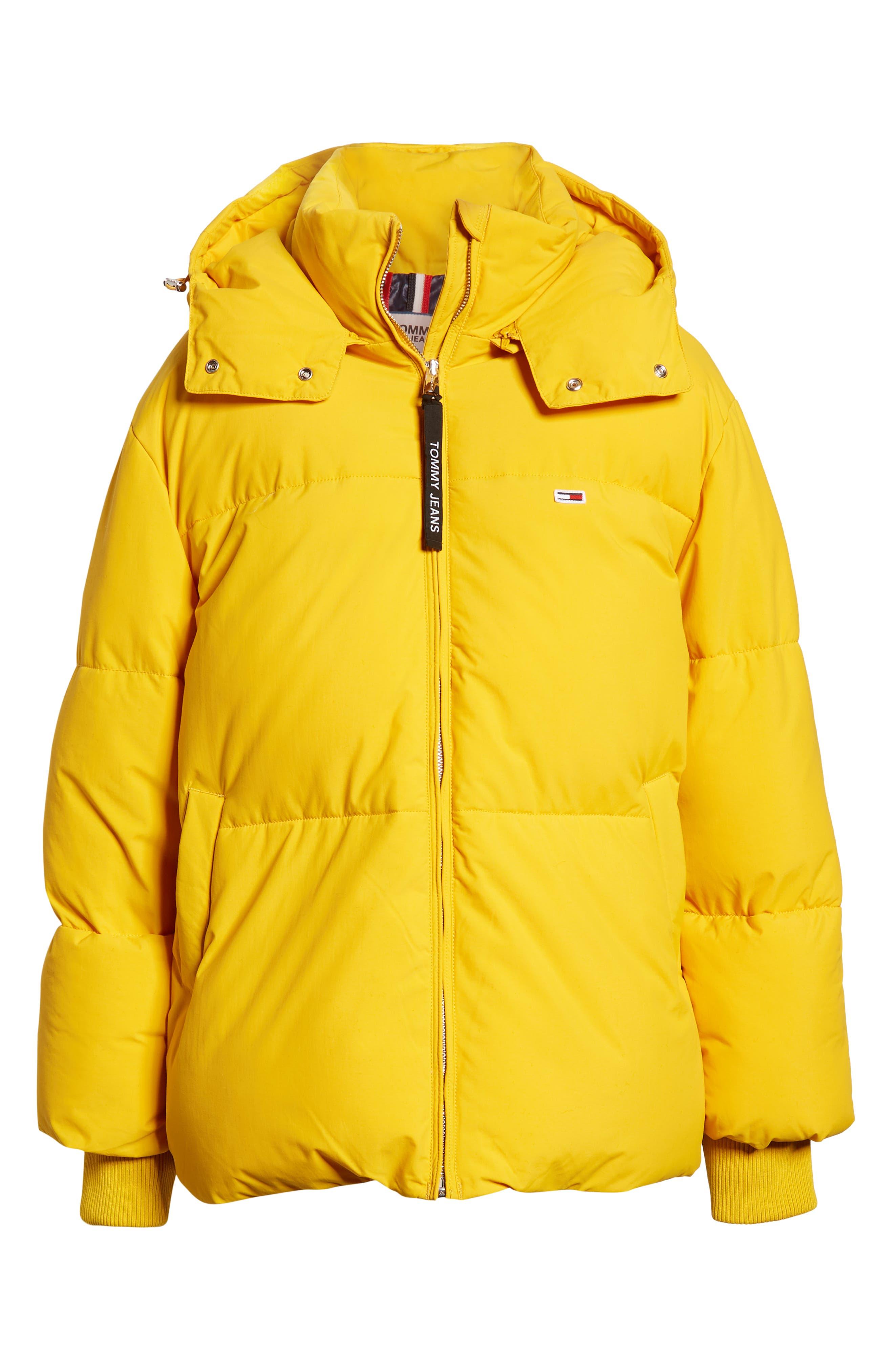 TJW Oversized Puffer Jacket,                             Alternate thumbnail 6, color,                             MANGO MOJITO
