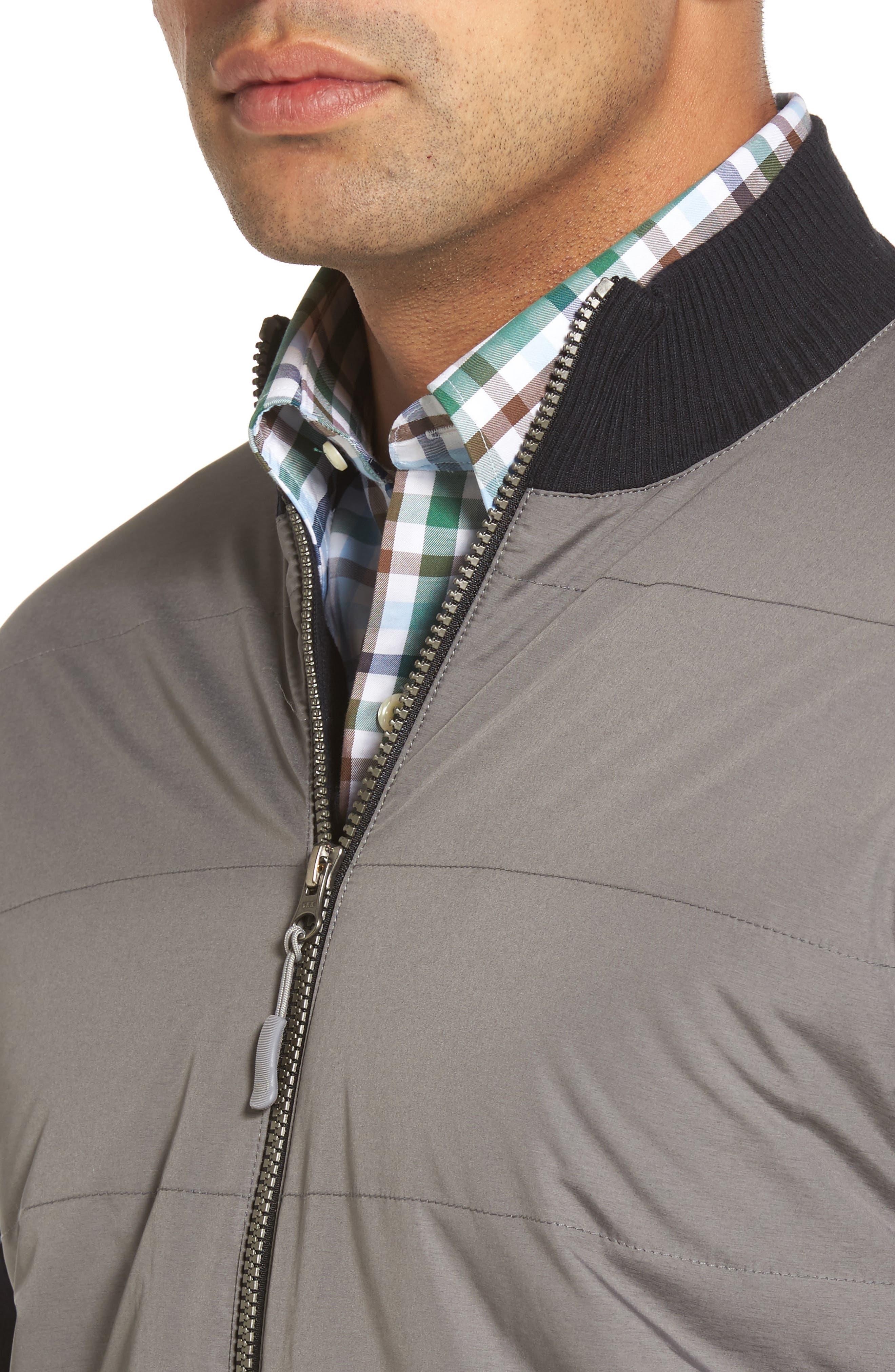 Patterson Zip Hybrid Jacket,                             Alternate thumbnail 4, color,                             001