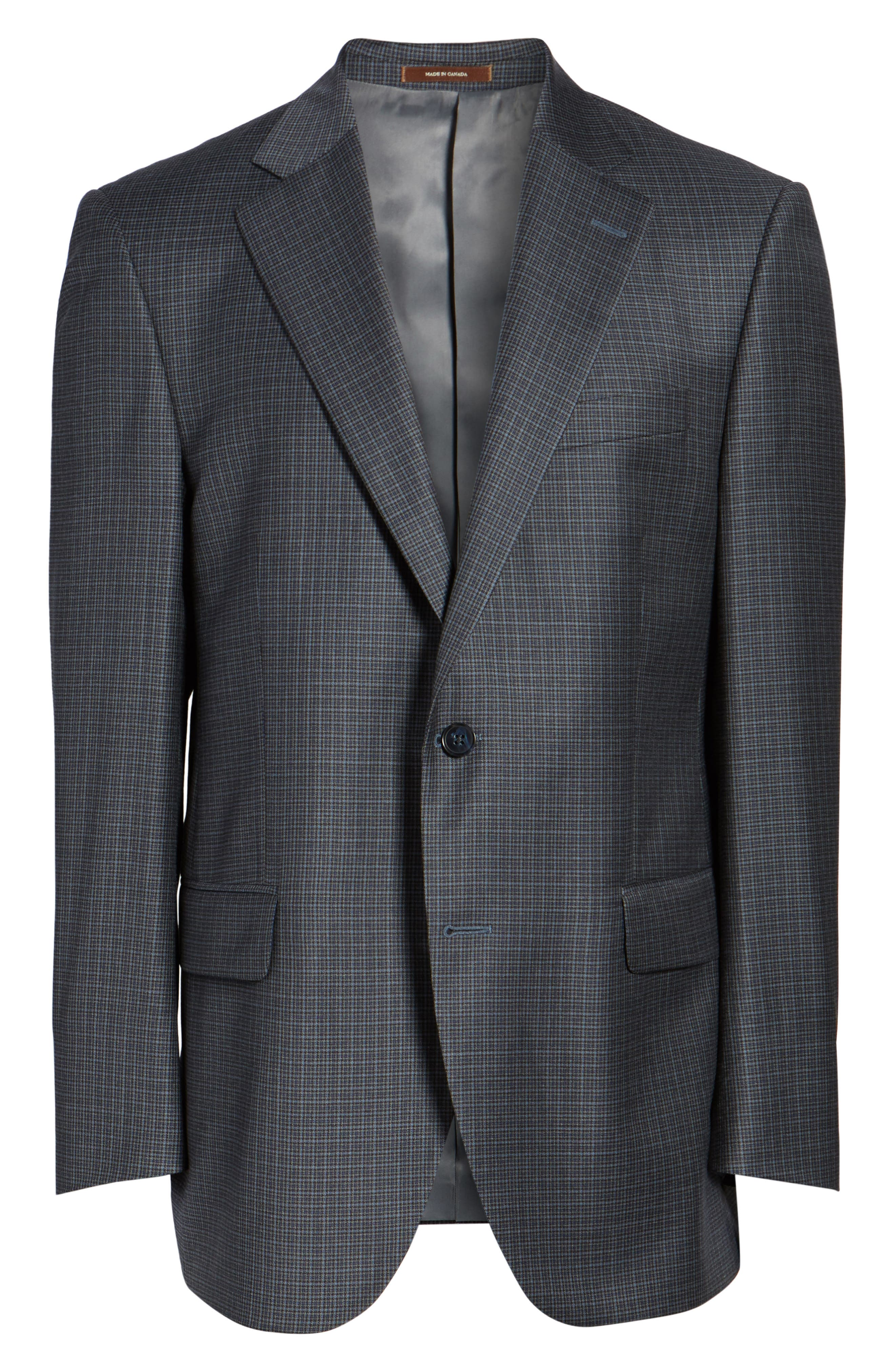 Flynn Classic Fit Check Wool Sport Coat,                             Alternate thumbnail 5, color,                             400