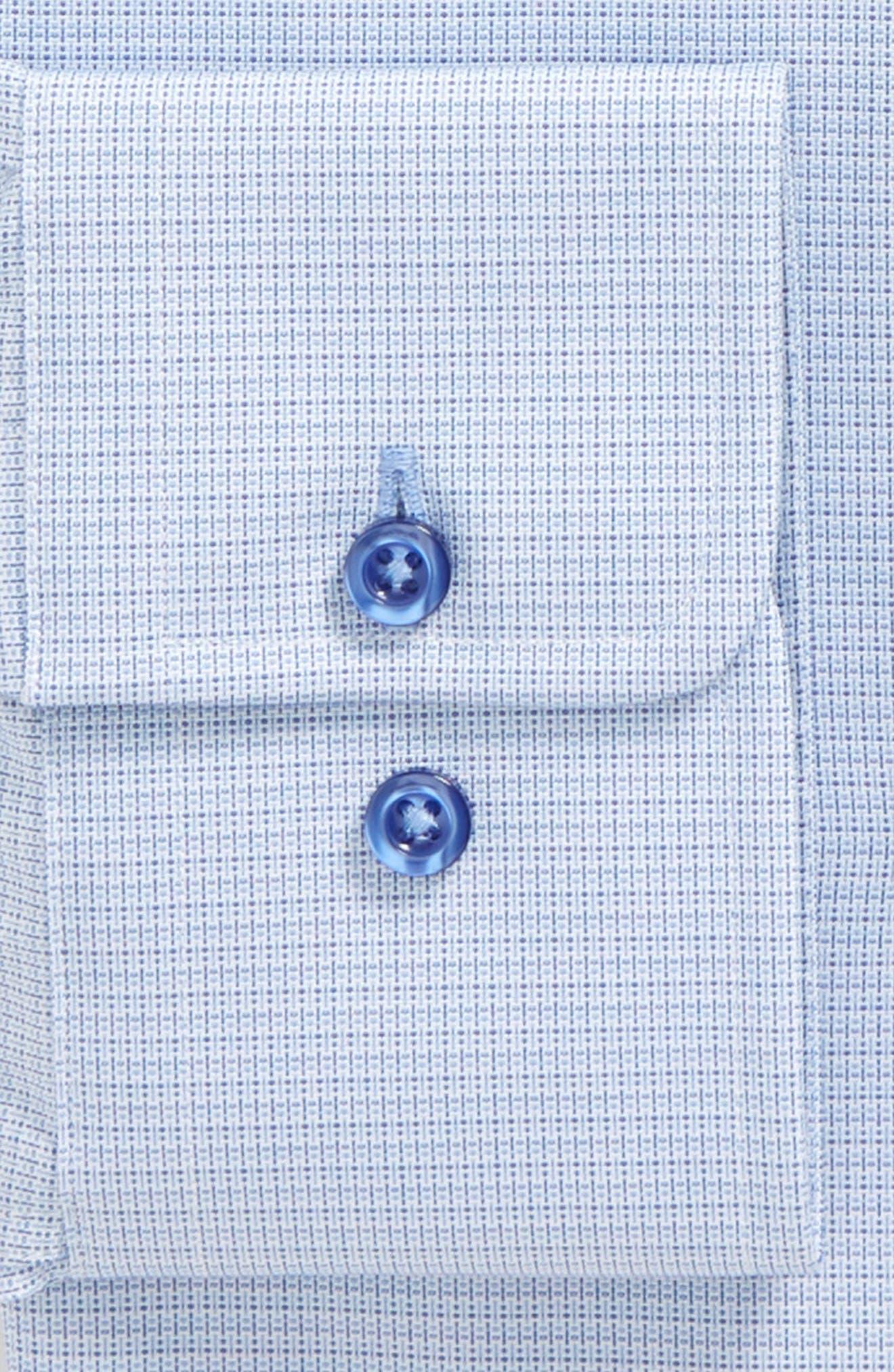 Regular Fit Solid Dress Shirt,                             Alternate thumbnail 6, color,                             423