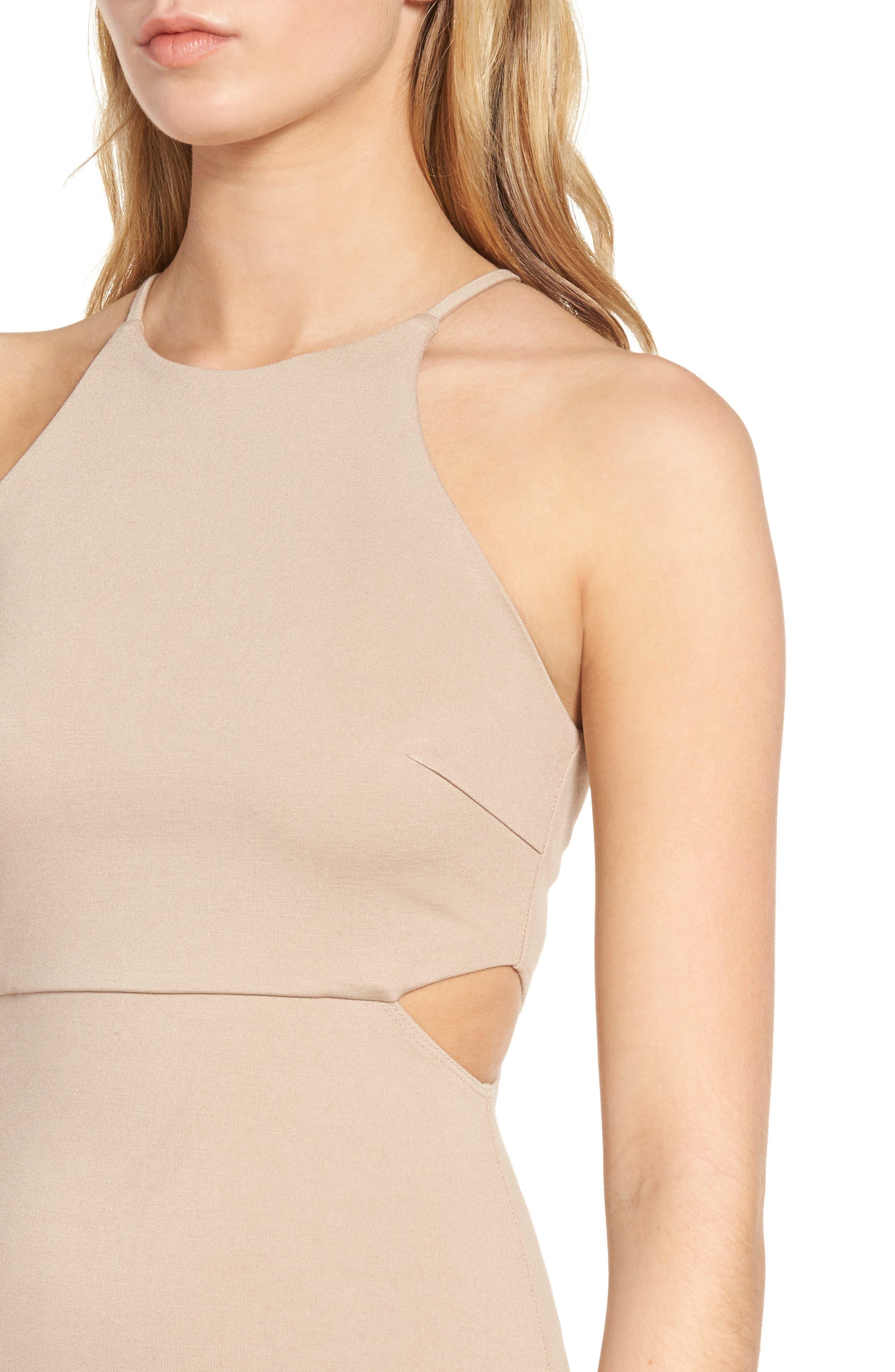 Side Cutout Body Con Dress,                             Alternate thumbnail 14, color,