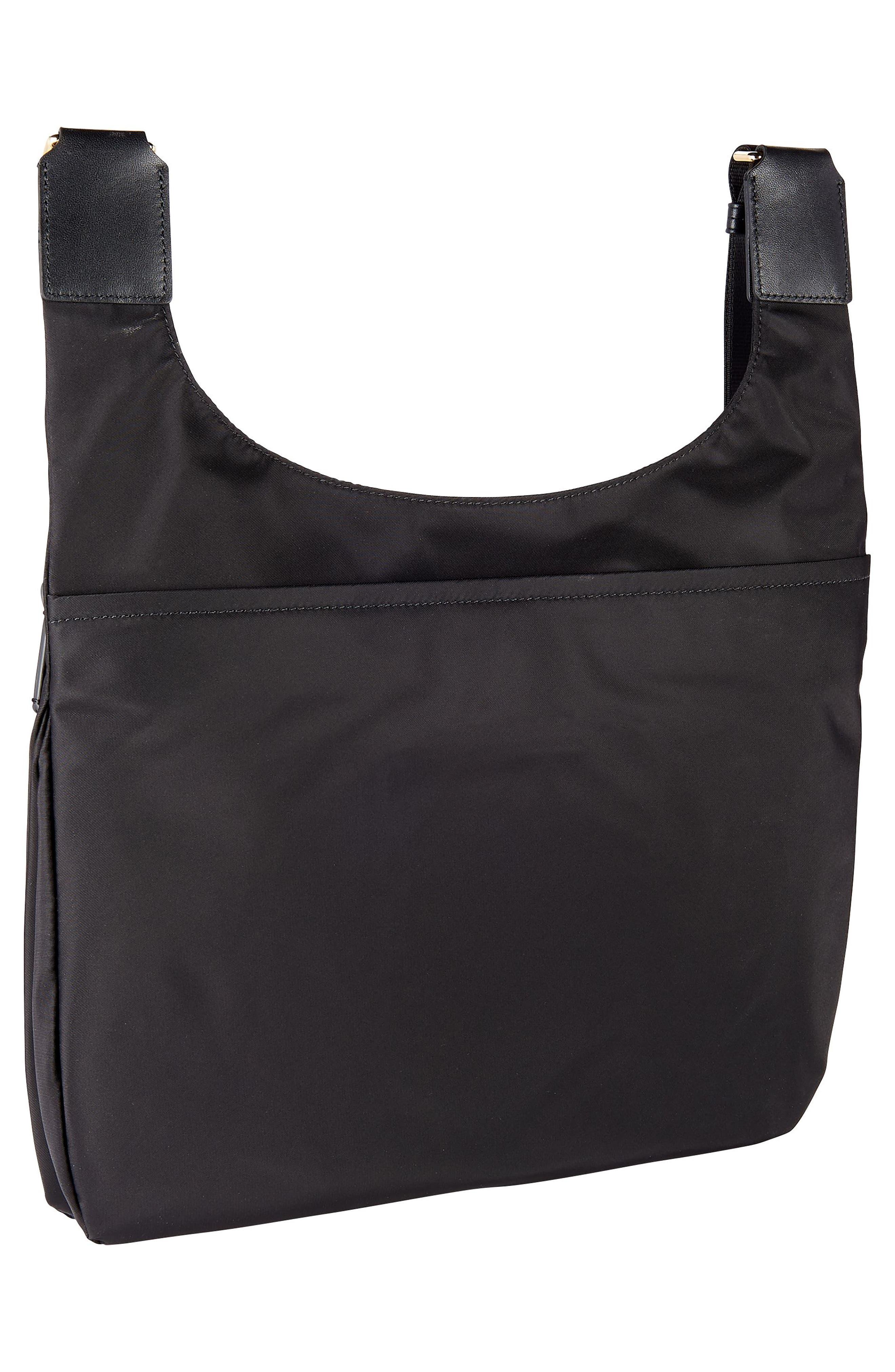 Voyager - Siam Nylon Crossbody Bag,                             Alternate thumbnail 3, color,                             BLACK