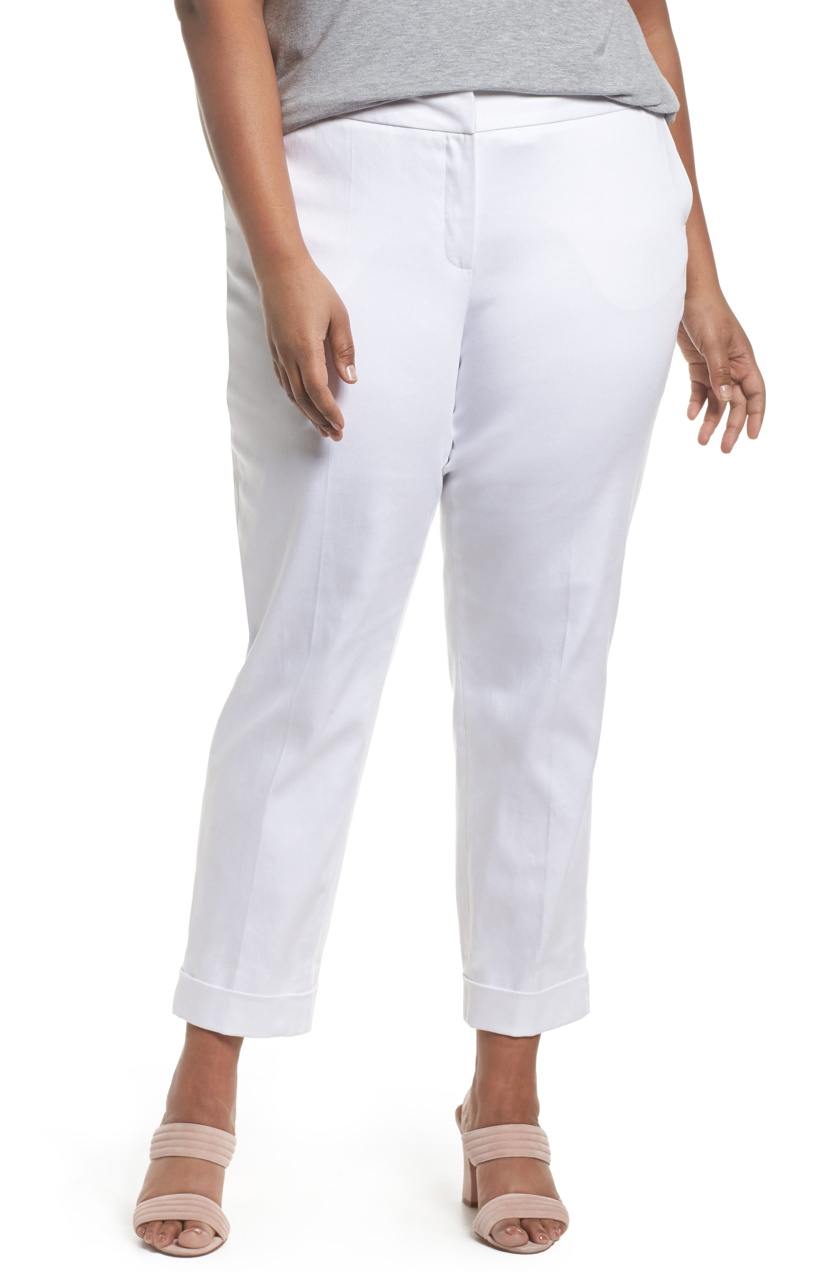 Stretch Twill Ankle Pants,                             Main thumbnail 2, color,
