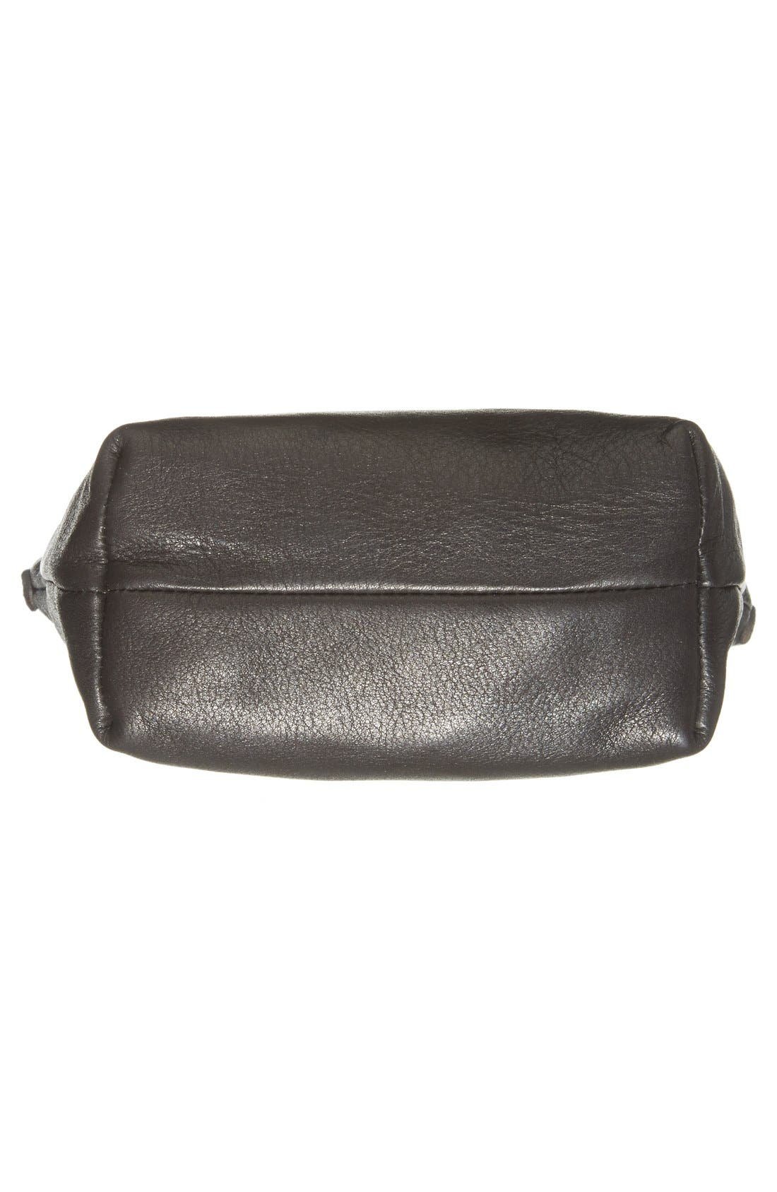 BAGGU,                              Leather Crossbody Bag,                             Alternate thumbnail 6, color,                             004
