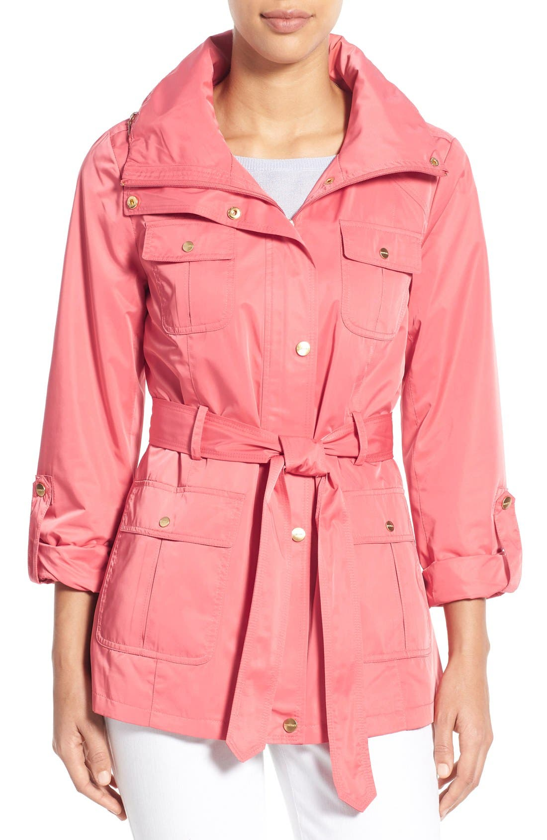 Techno Short Trench Coat,                             Main thumbnail 7, color,