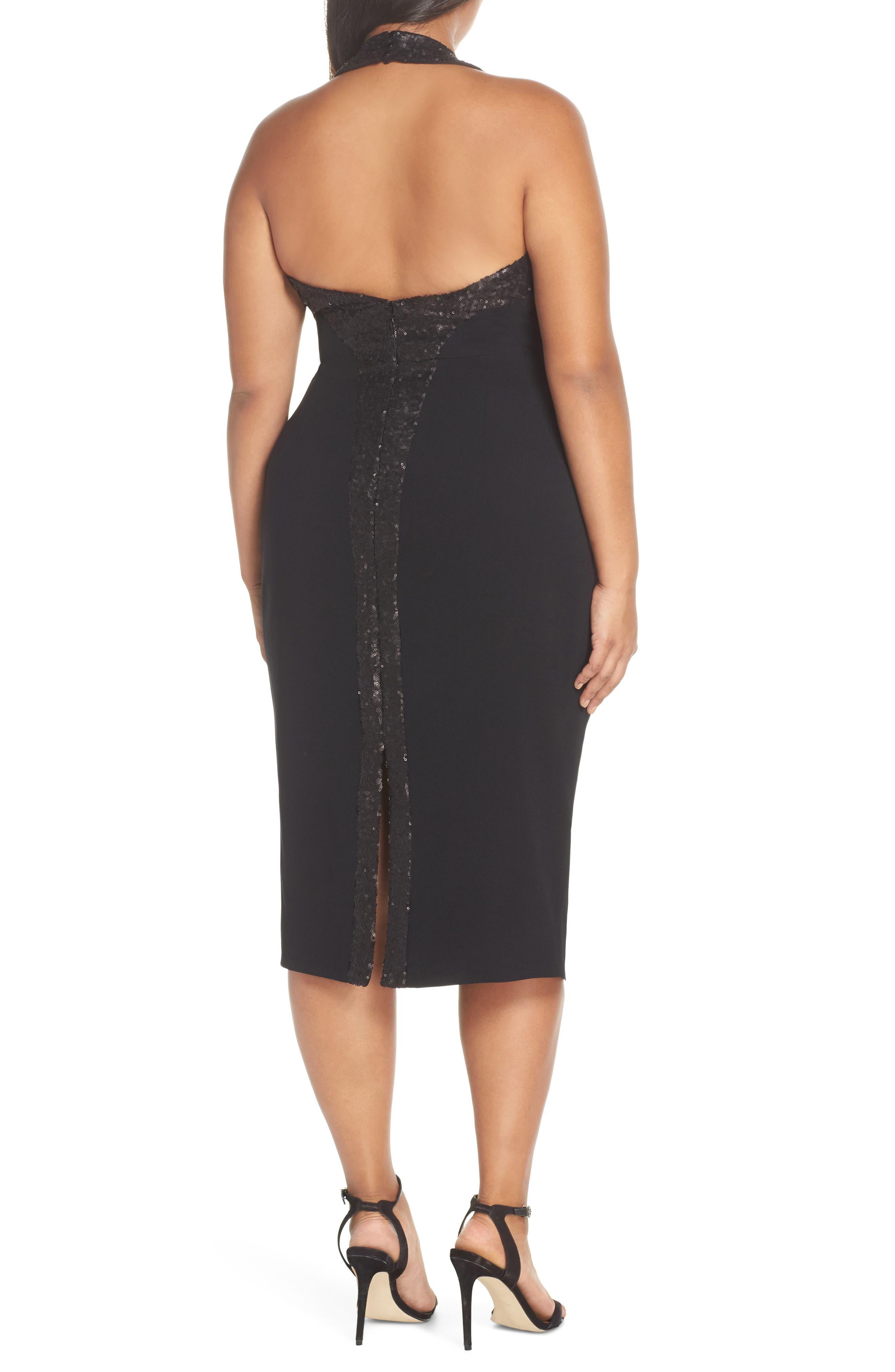 Cleo Halter Dress,                             Alternate thumbnail 7, color,                             BLACK/ BLACK