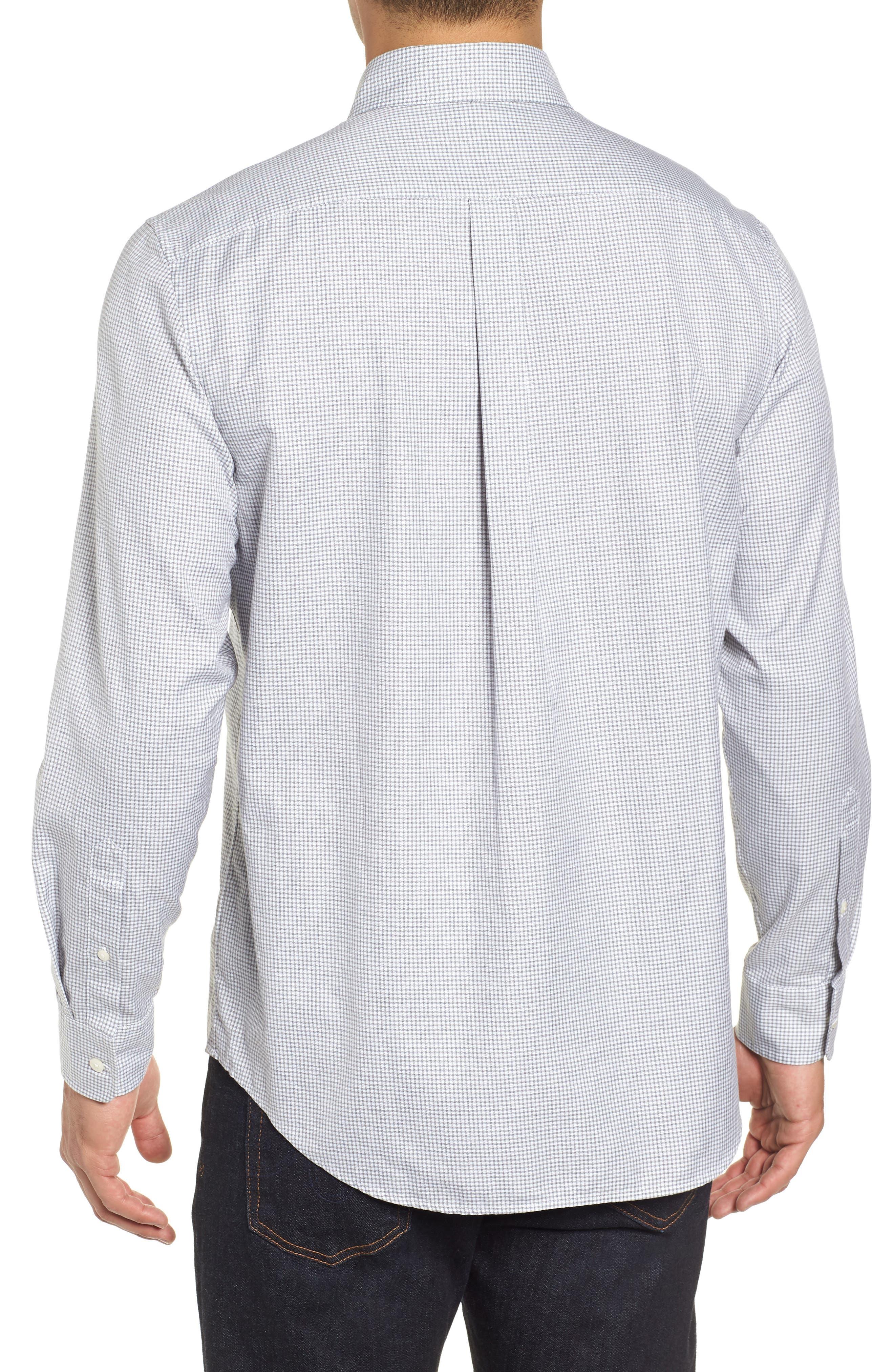 Kettle Cove Regular Fit Gingham Sport Shirt,                             Alternate thumbnail 3, color,                             BARRACUDA
