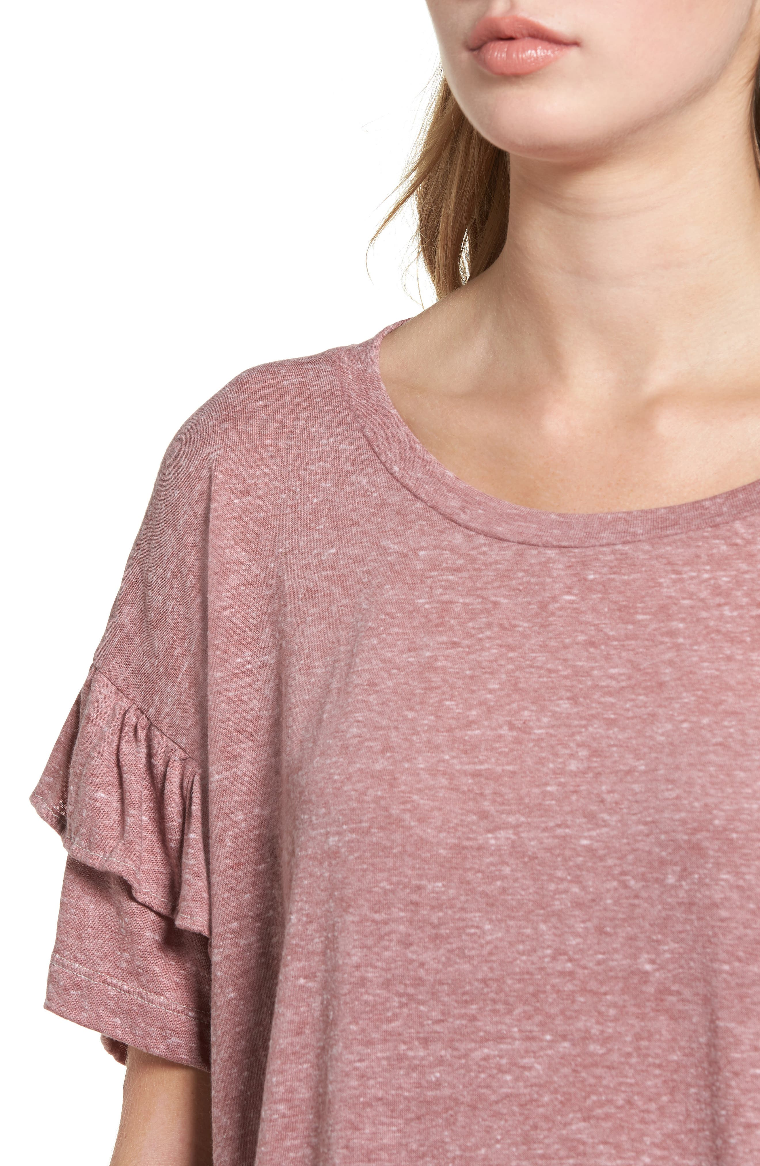 The Ruffle Roadie Tee,                             Alternate thumbnail 4, color,                             683