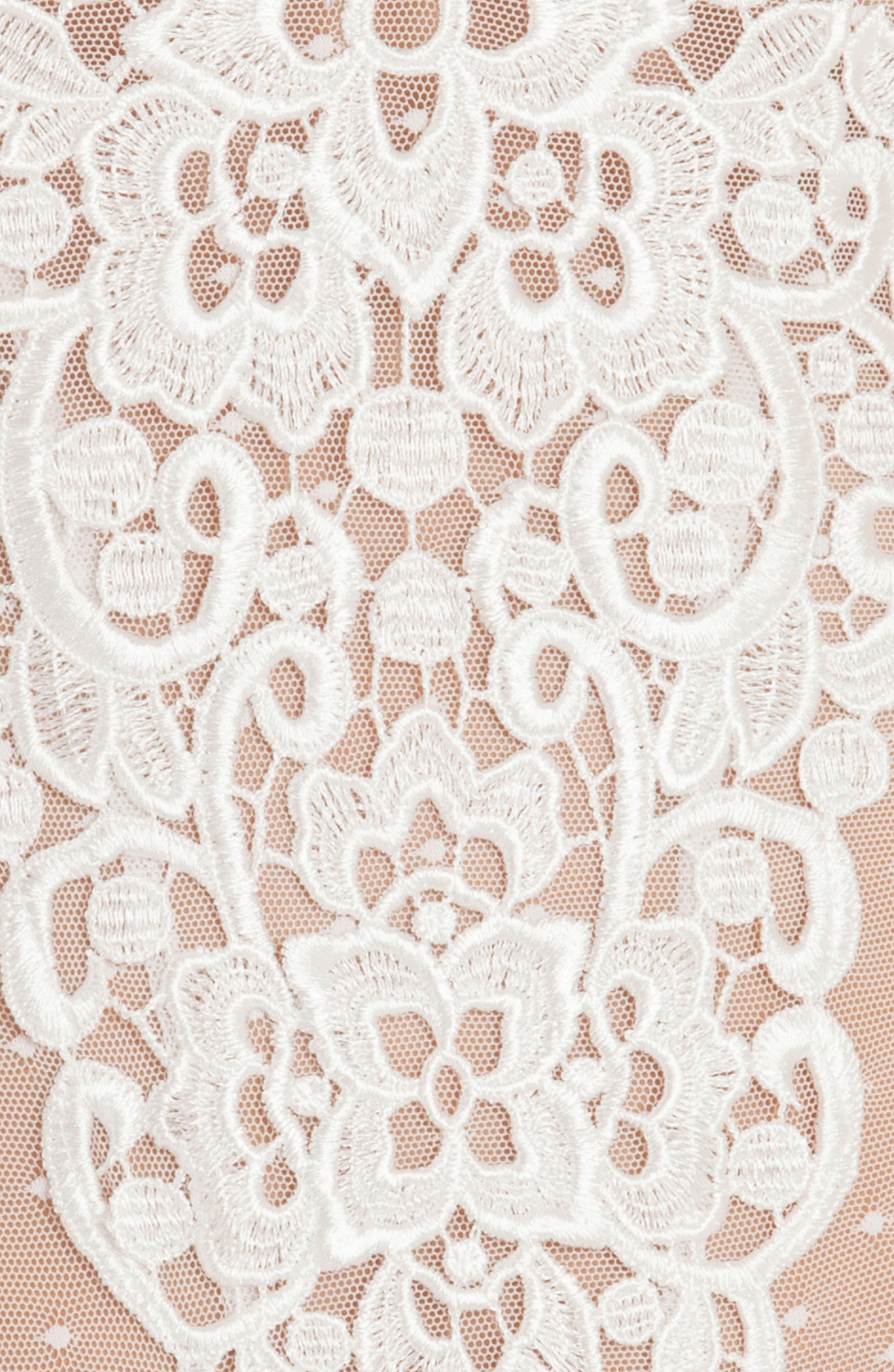 Byzantine Lace & Mesh Teddy,                             Alternate thumbnail 8, color,