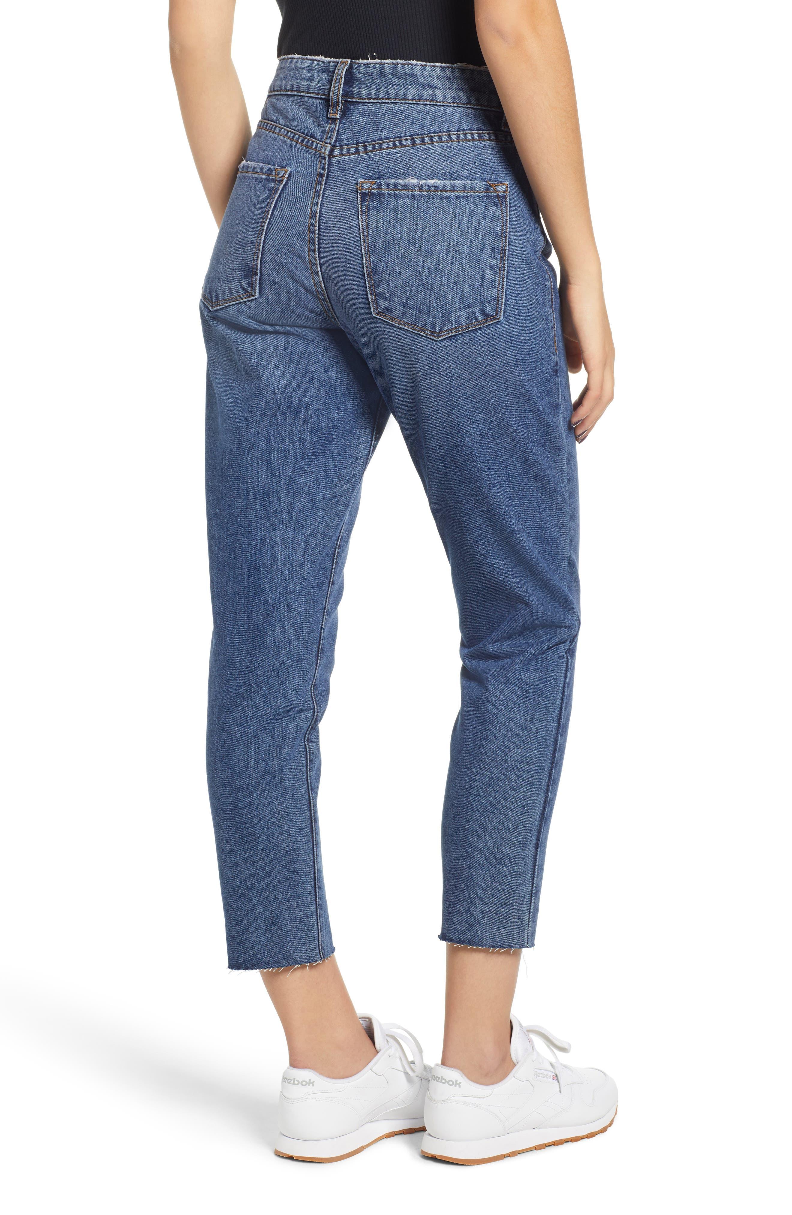 High Waist Straight Leg Crop Jeans,                             Alternate thumbnail 2, color,                             401