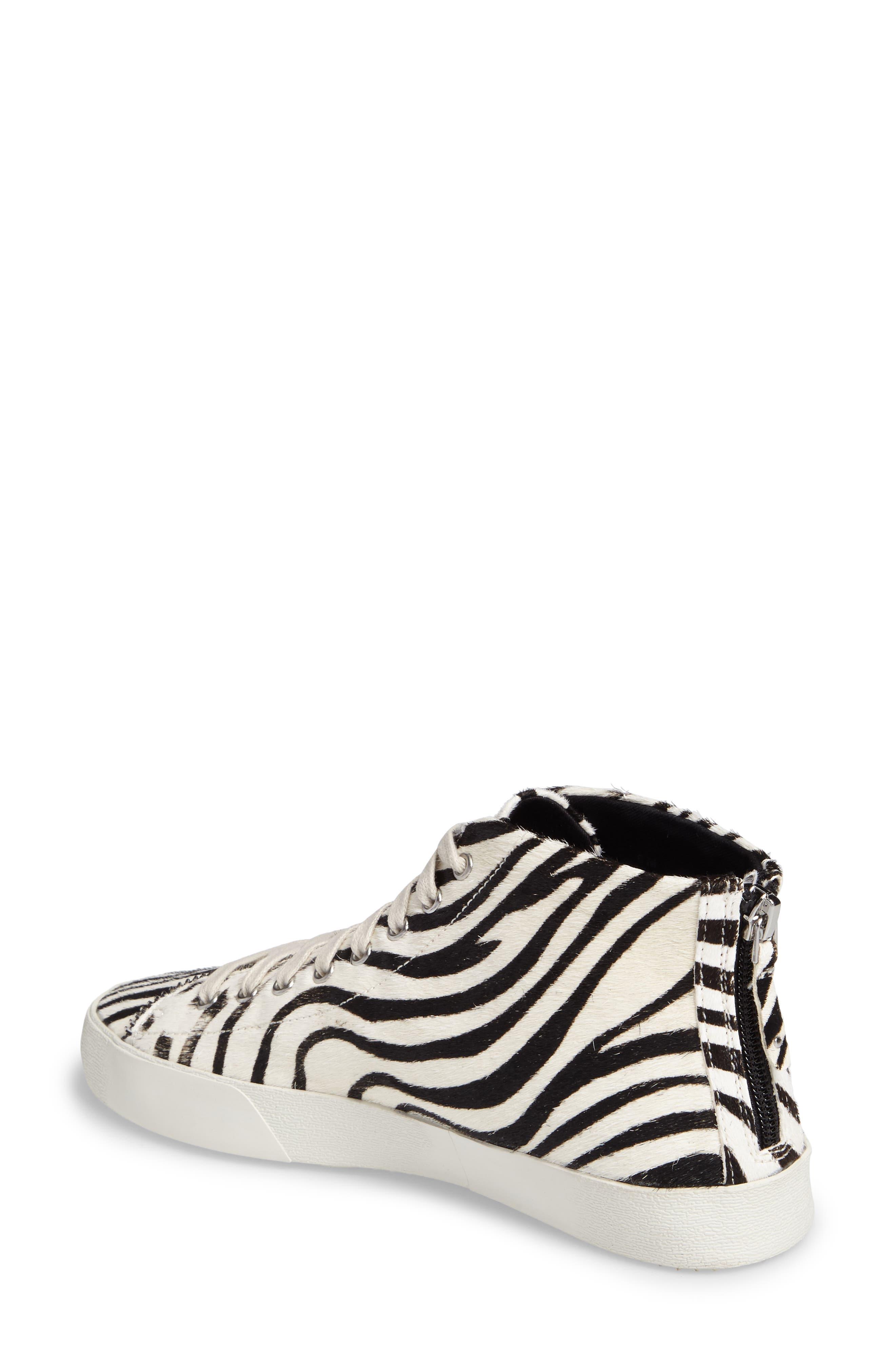 Zaina Too Genuine Calf Hair Sneaker,                             Alternate thumbnail 2, color,                             100