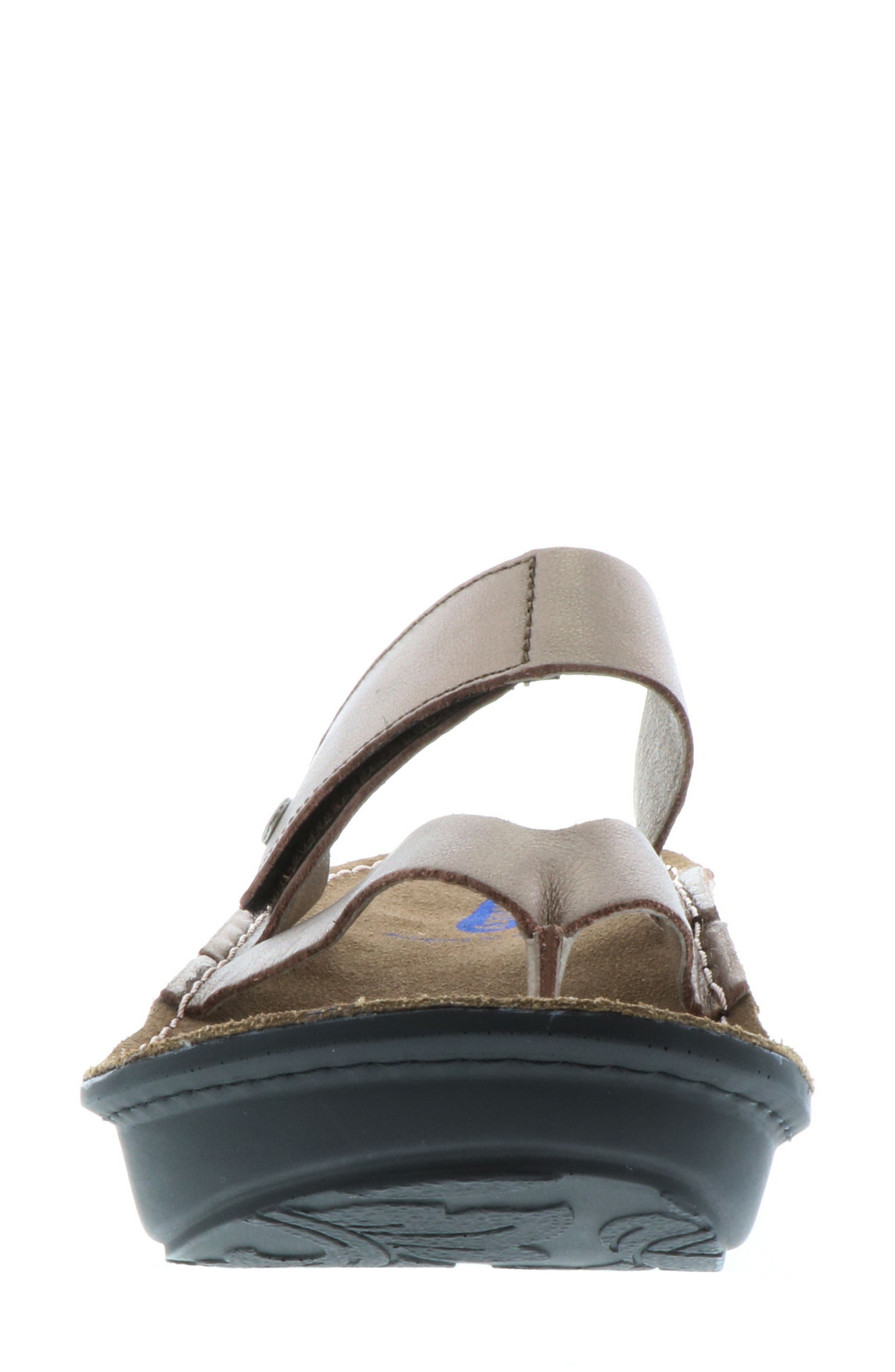Tahiti Platform Sandal,                             Alternate thumbnail 4, color,                             BRONZE METALLIC