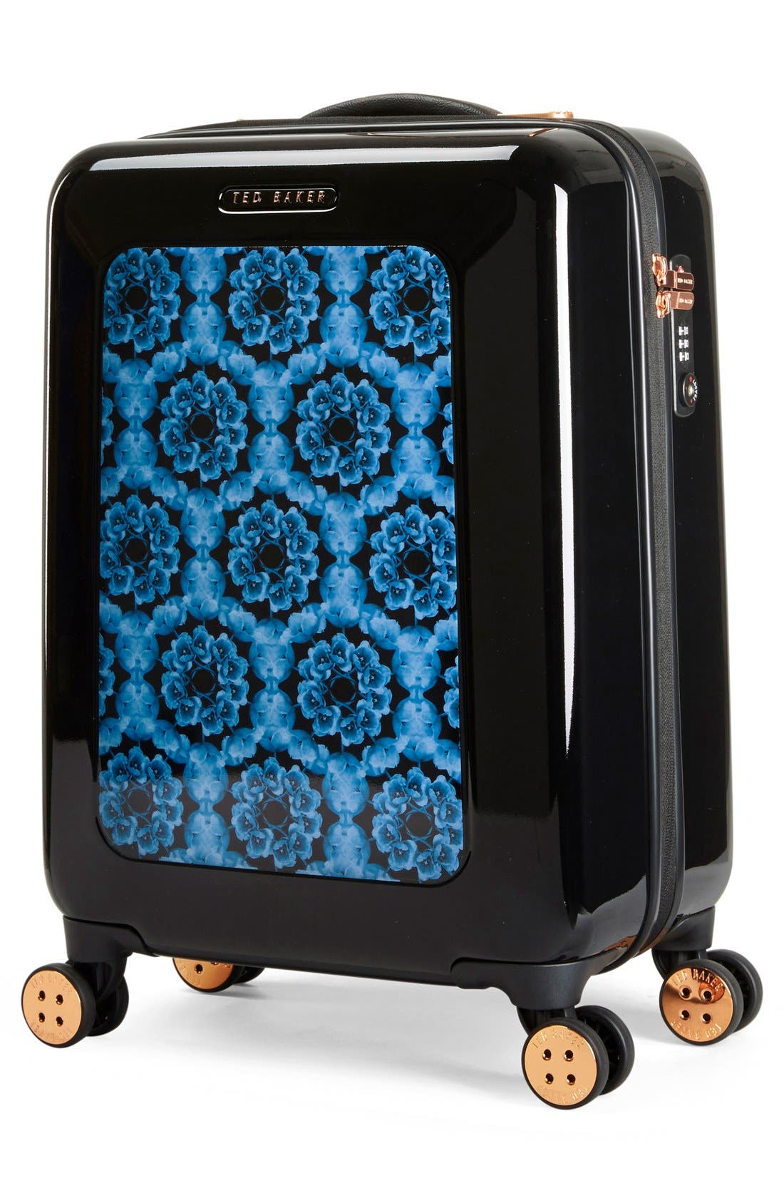 Small 22-Inch Blue Beauty Suitcase,                             Alternate thumbnail 6, color,