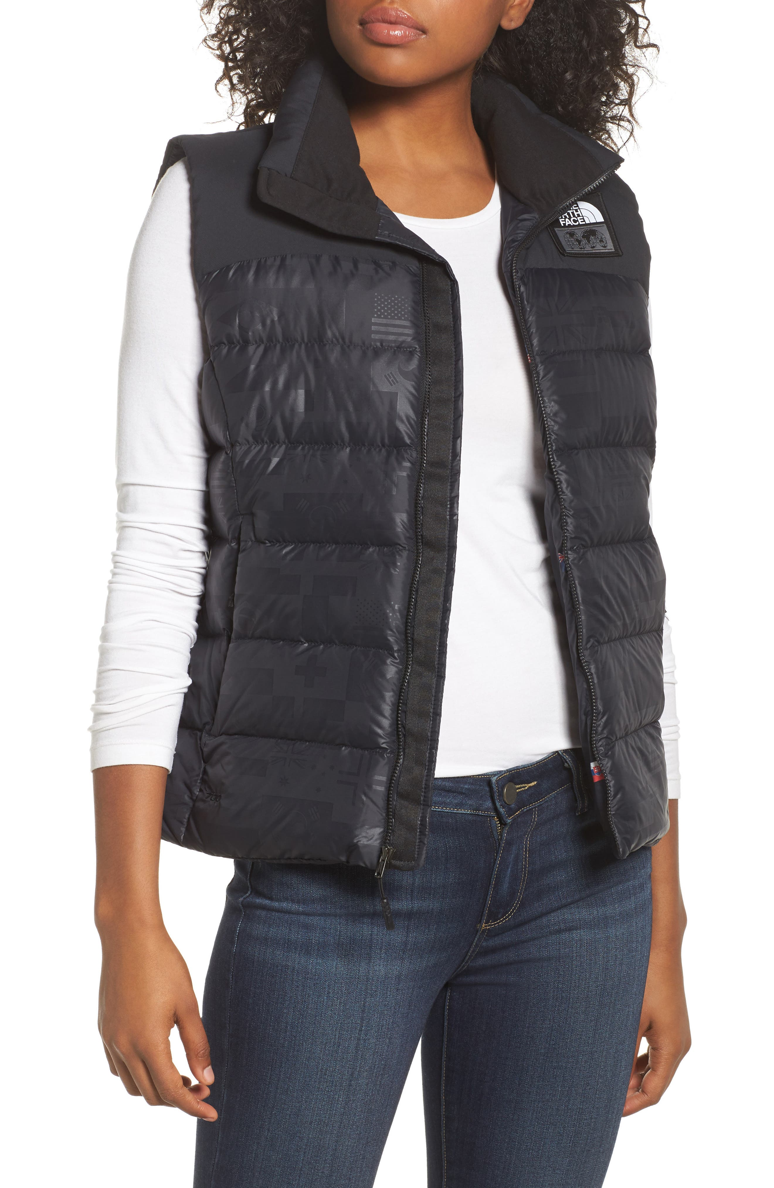 International Collection Nuptse 700-Fill Power Down Puffer Vest,                         Main,                         color, 001