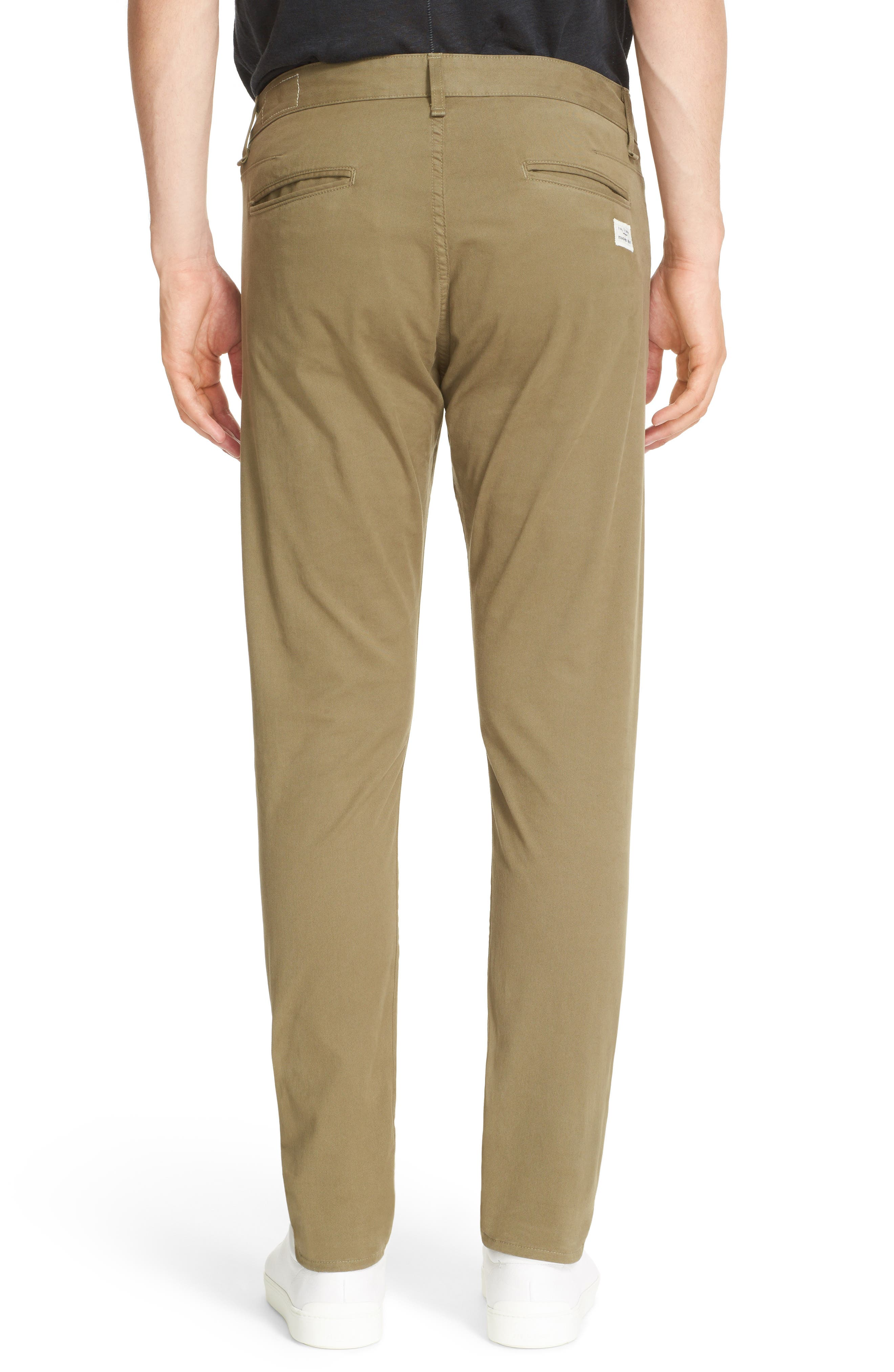 Fit 1 Chinos,                             Alternate thumbnail 2, color,                             ARMY GREEN