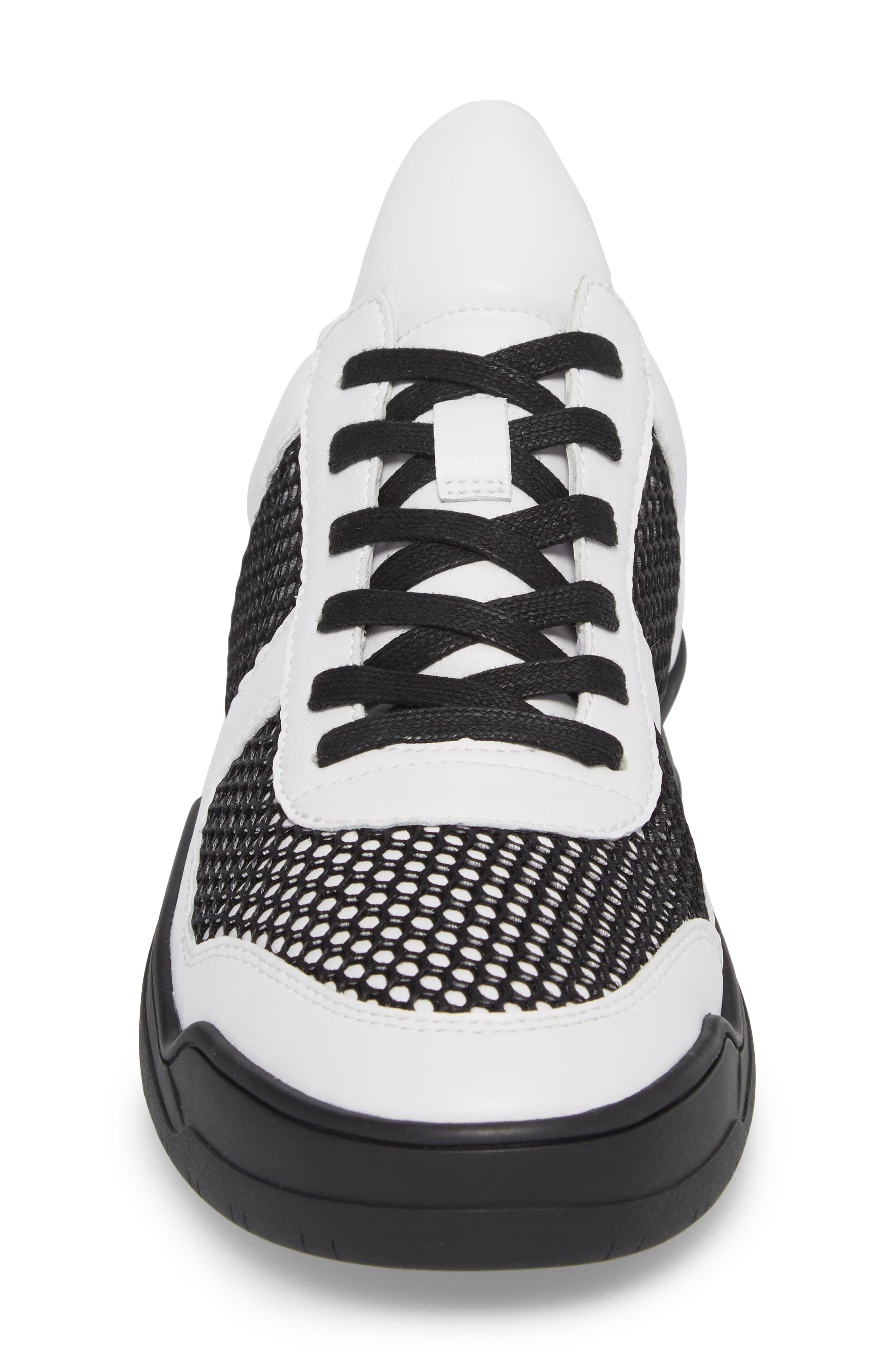 Low-Top Sneaker,                             Alternate thumbnail 4, color,                             BLACK/WHITE