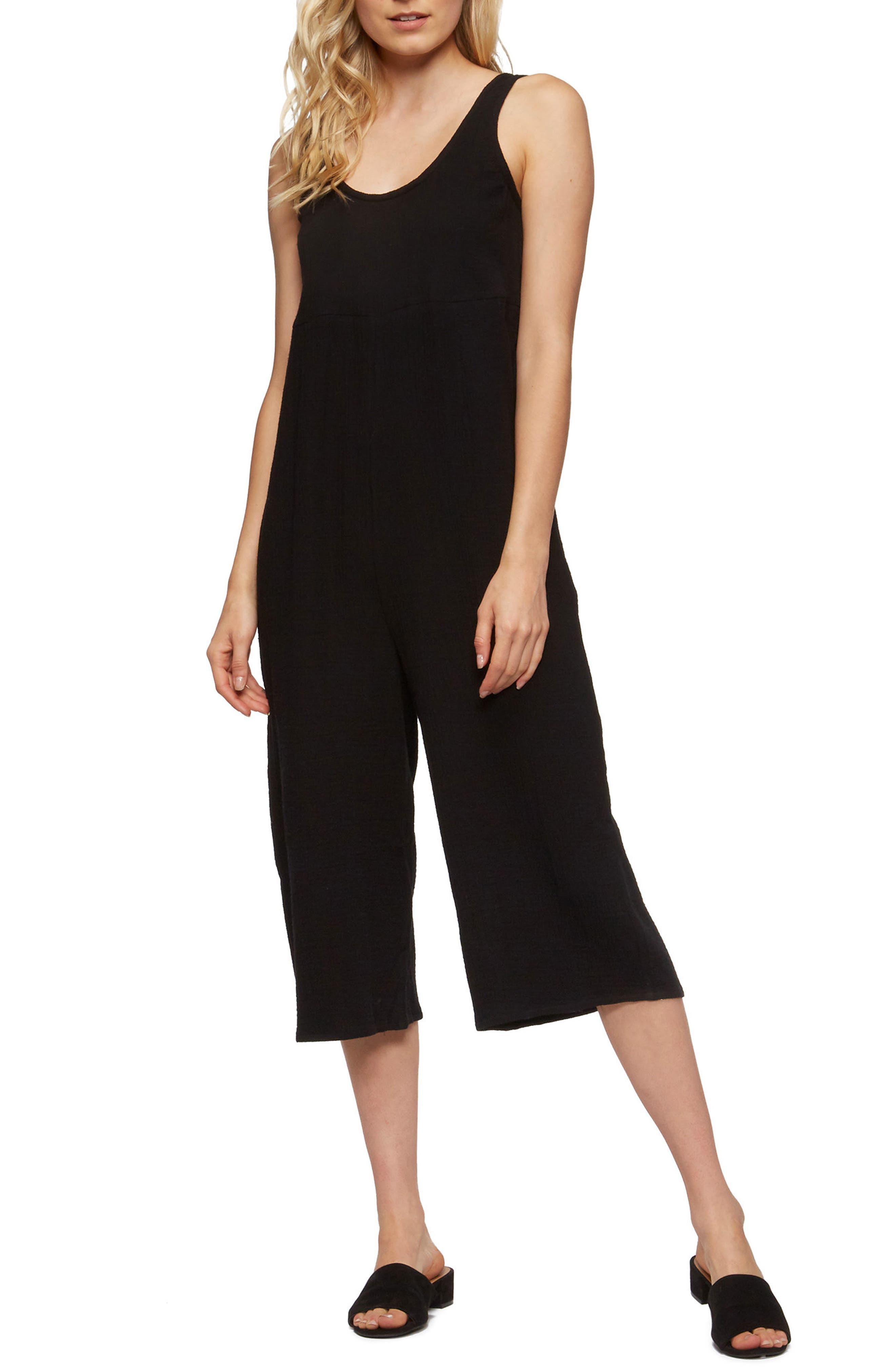 Byrony Jumpsuit Cover-Up,                             Main thumbnail 1, color,                             BLACK