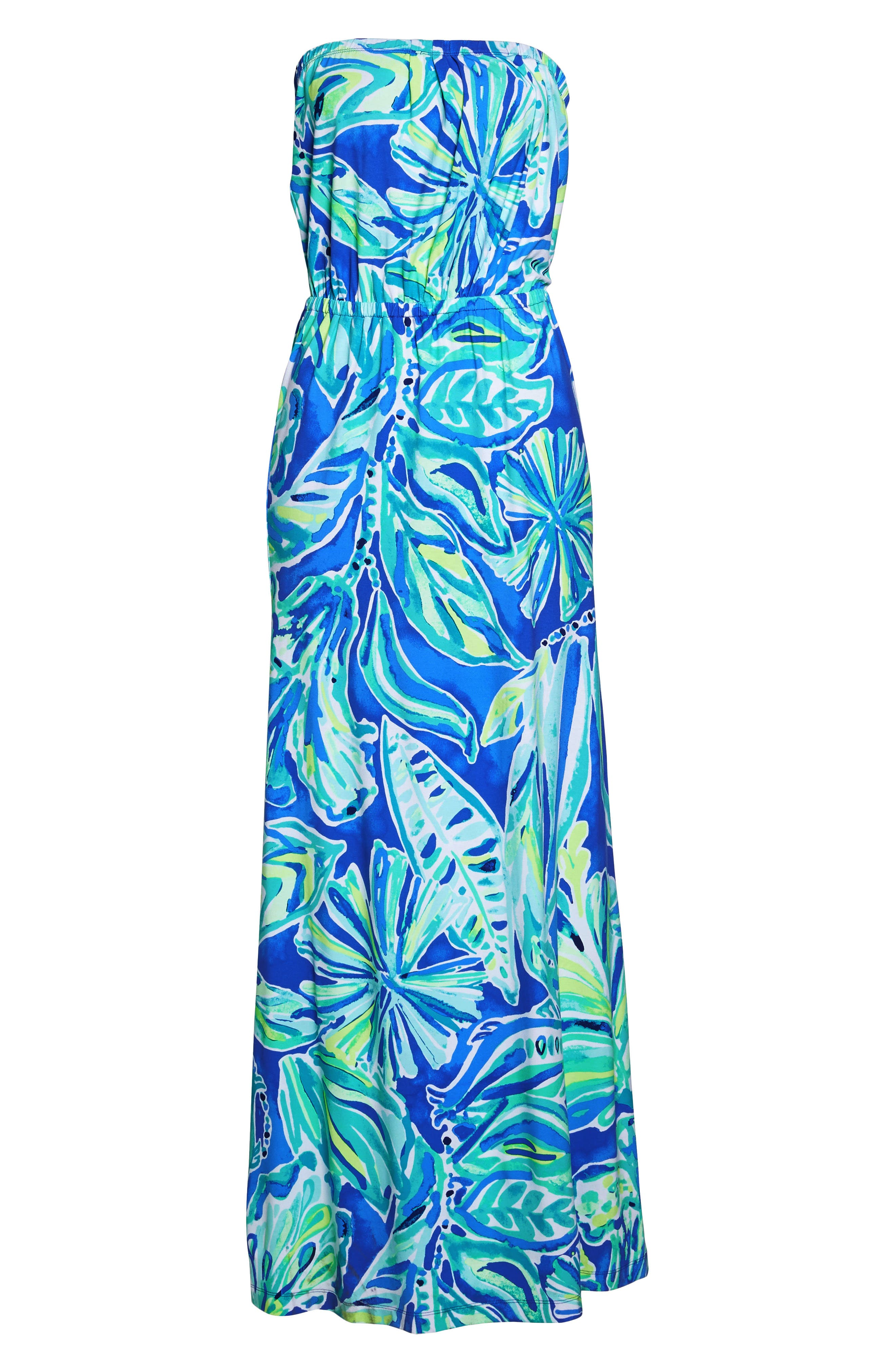 Marlisa Strapless Maxi Dress,                             Alternate thumbnail 7, color,                             440