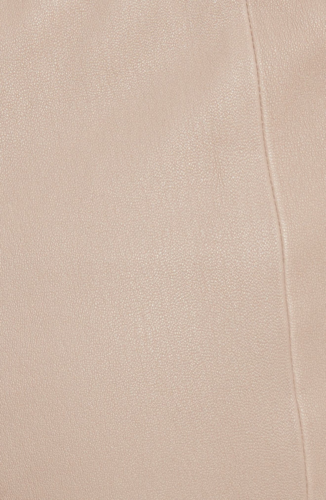 Stretch Leather Pants,                             Alternate thumbnail 5, color,                             205