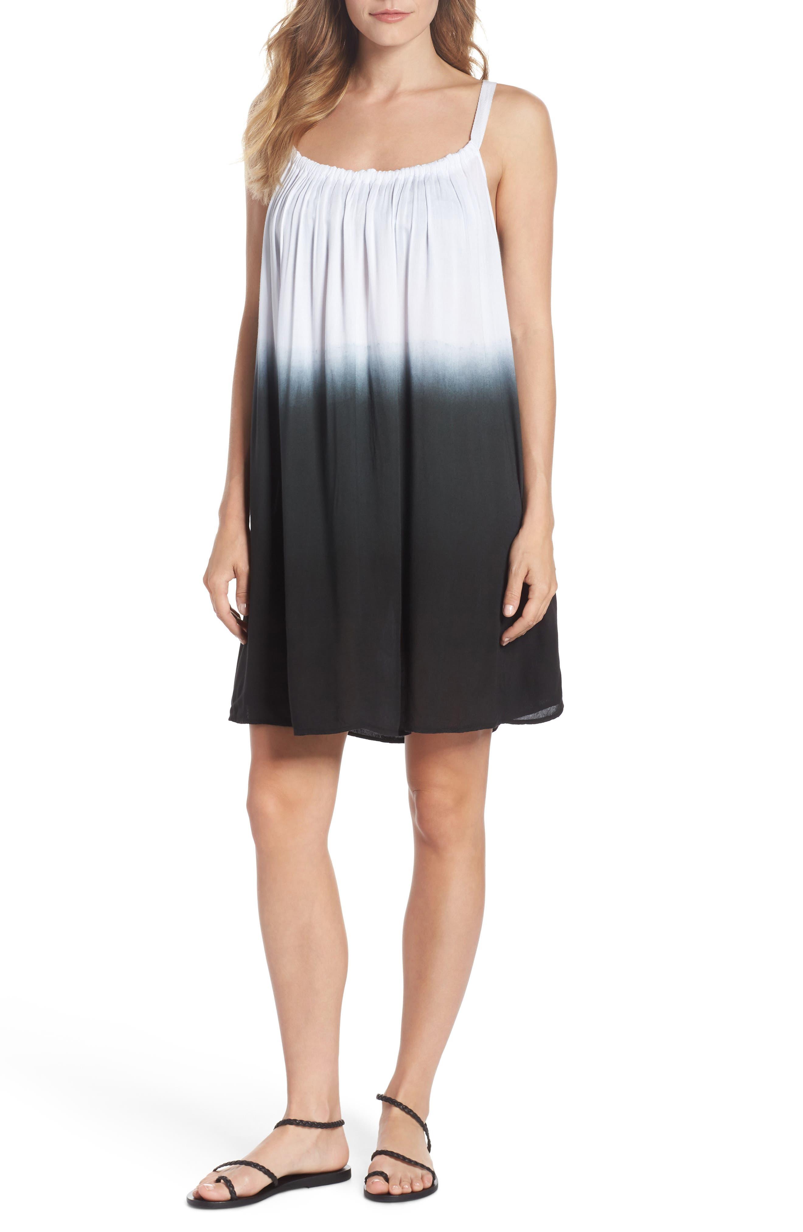Elan Dip-Dye Cover-Up Dress, Black