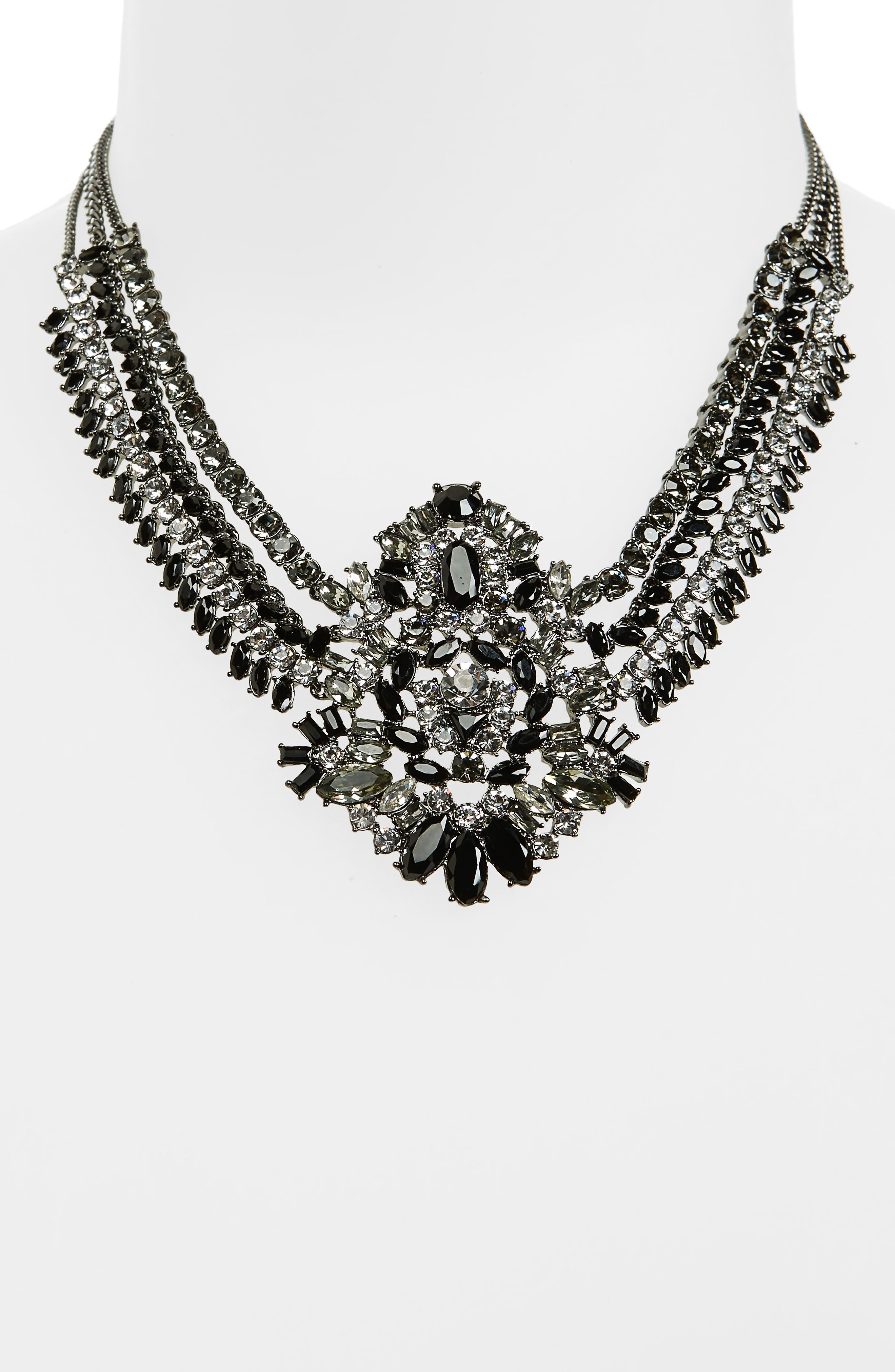 Phoenix Swag Collar Necklace,                             Alternate thumbnail 2, color,                             001
