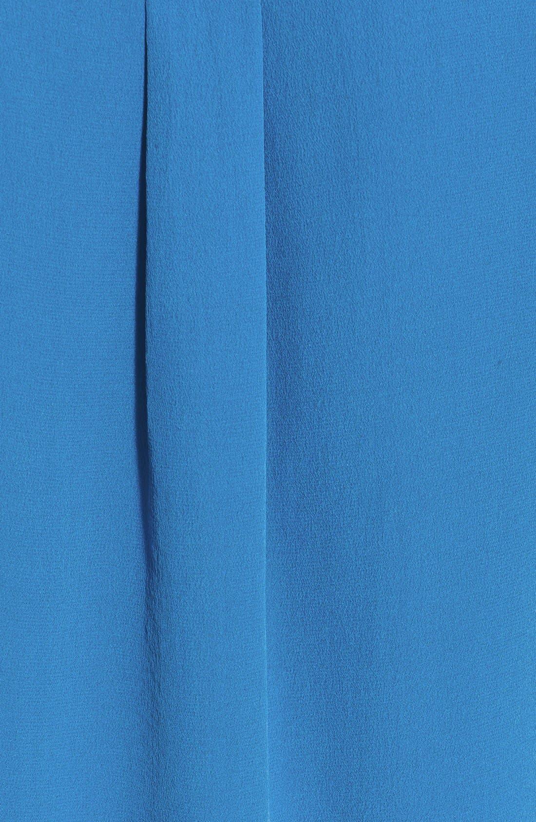 'Slim Signature' Sleeveless Silk Shirt,                             Alternate thumbnail 116, color,