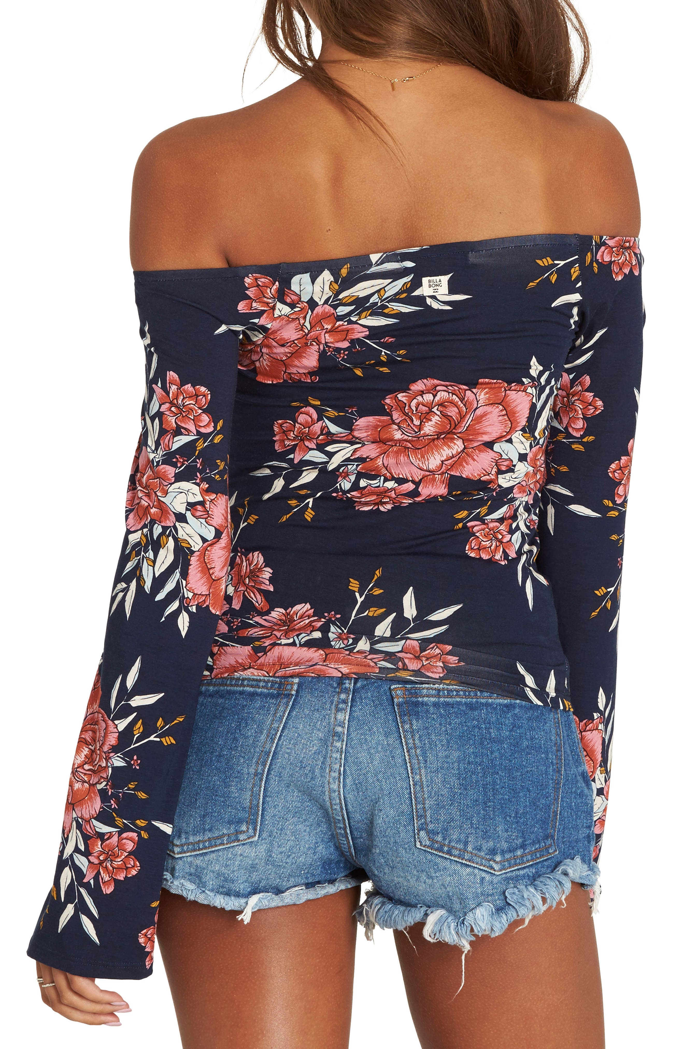 Come Around Off the Shoulder Top,                             Alternate thumbnail 2, color,
