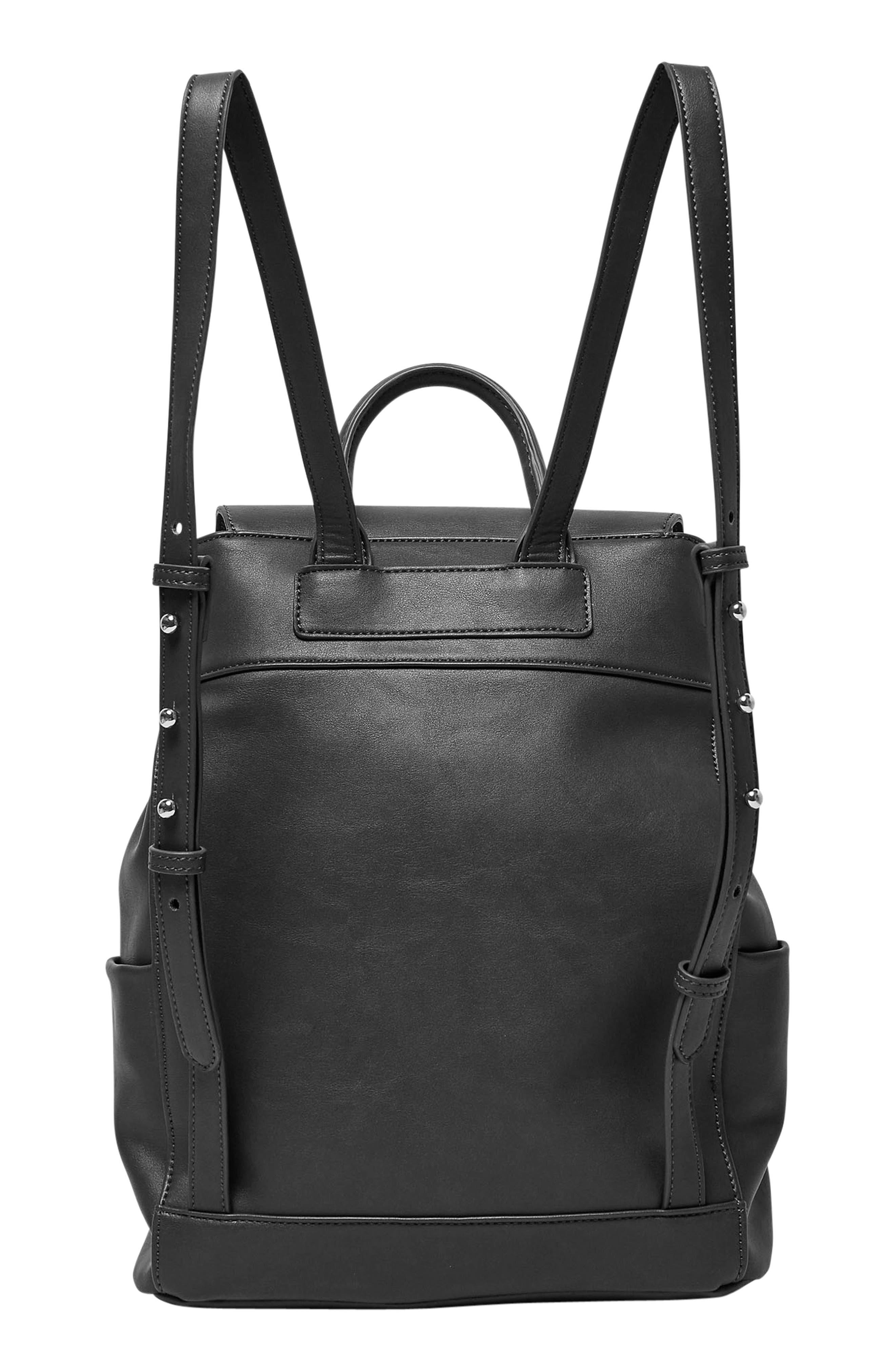 Splendour Vegan Leather Backpack,                             Alternate thumbnail 4, color,                             002