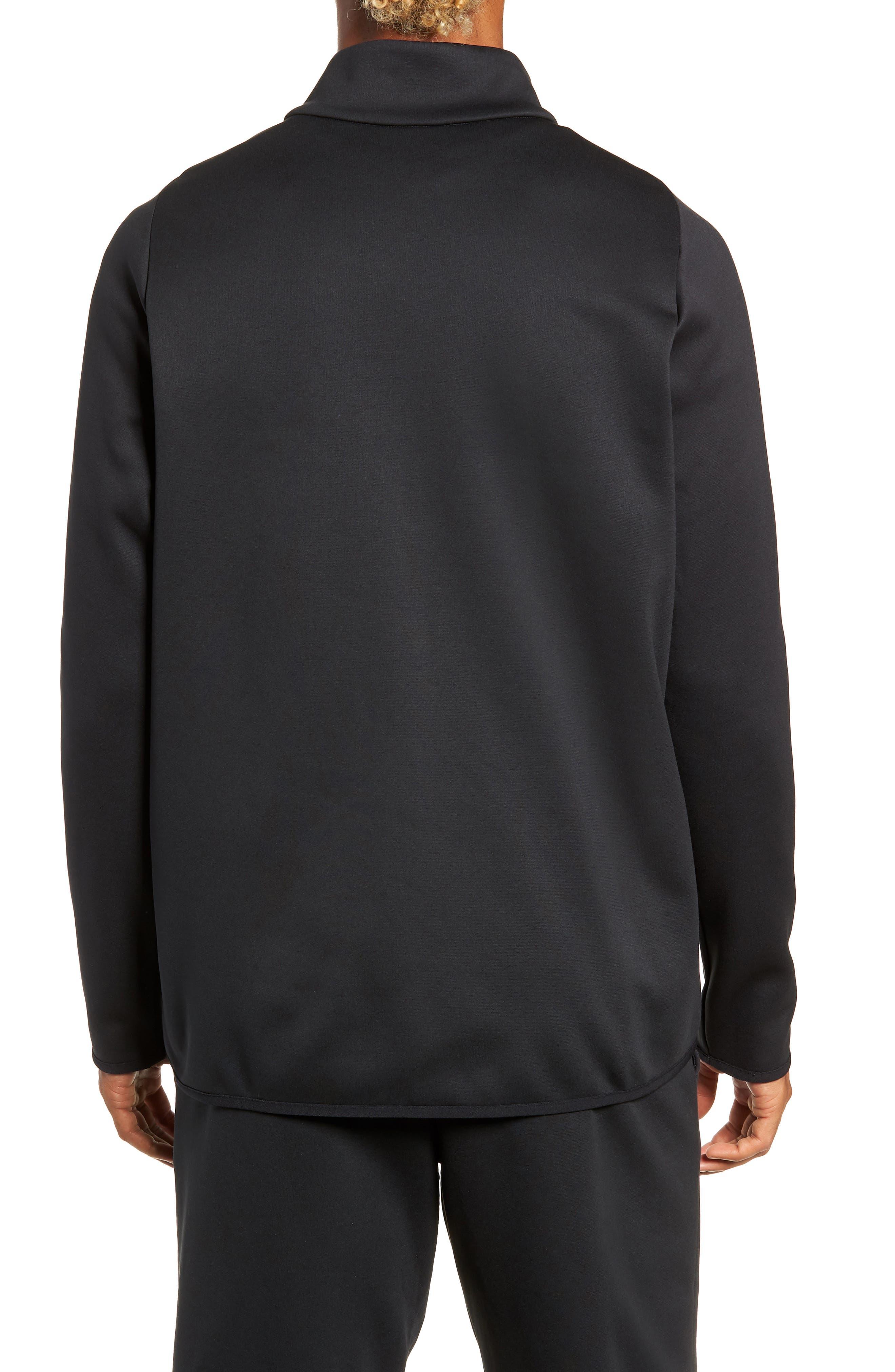 Quarter Zip Pullover,                             Alternate thumbnail 2, color,                             BLACK/ DARK GREY