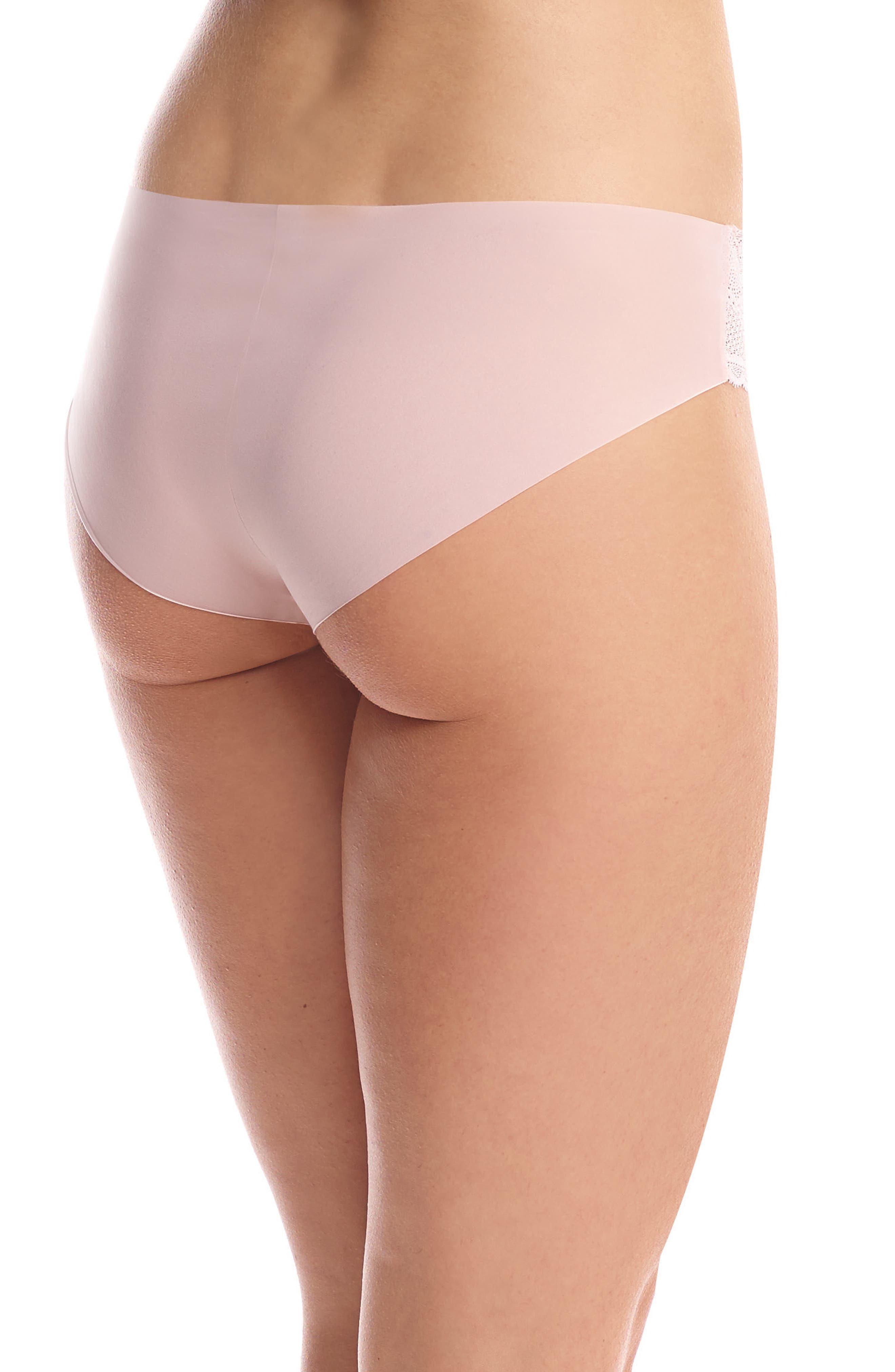 Perfect Stretch Lace Bikini,                             Alternate thumbnail 2, color,                             BLUSH