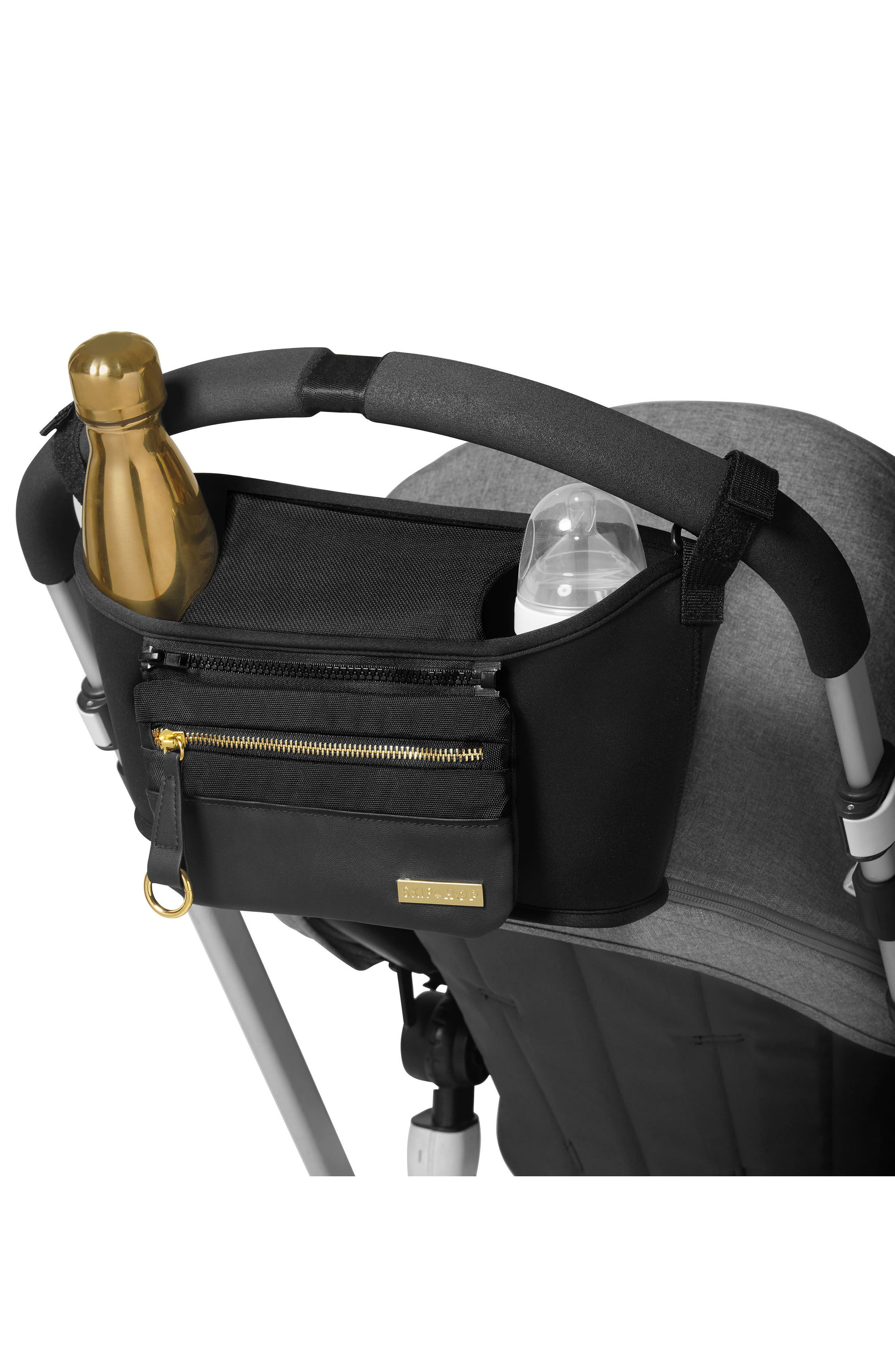 Grab & Go Luxe Stroller Organizer,                             Alternate thumbnail 6, color,                             BLACK