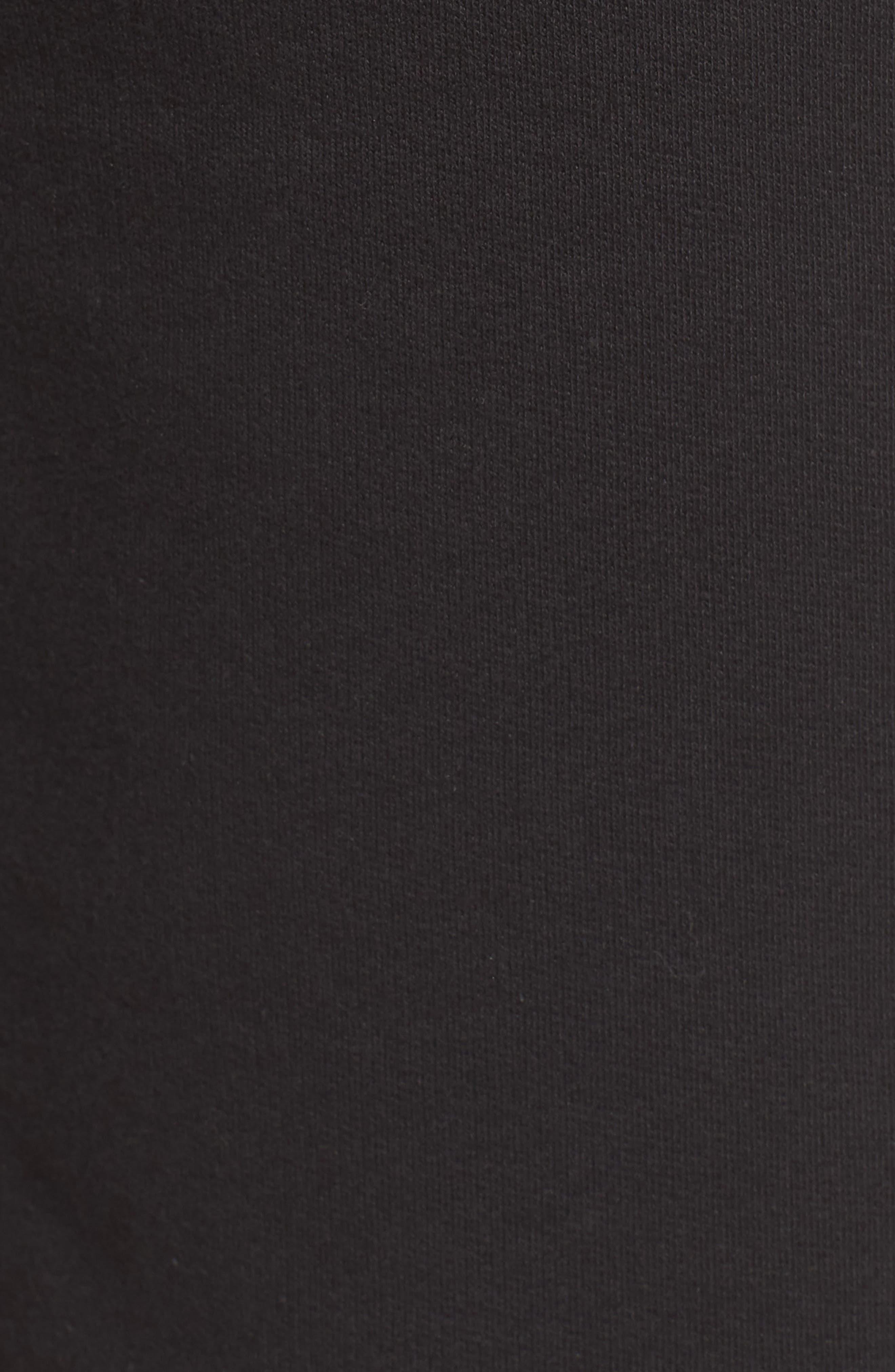Logo Jogger Shorts,                             Alternate thumbnail 5, color,                             BLACK LINEAR